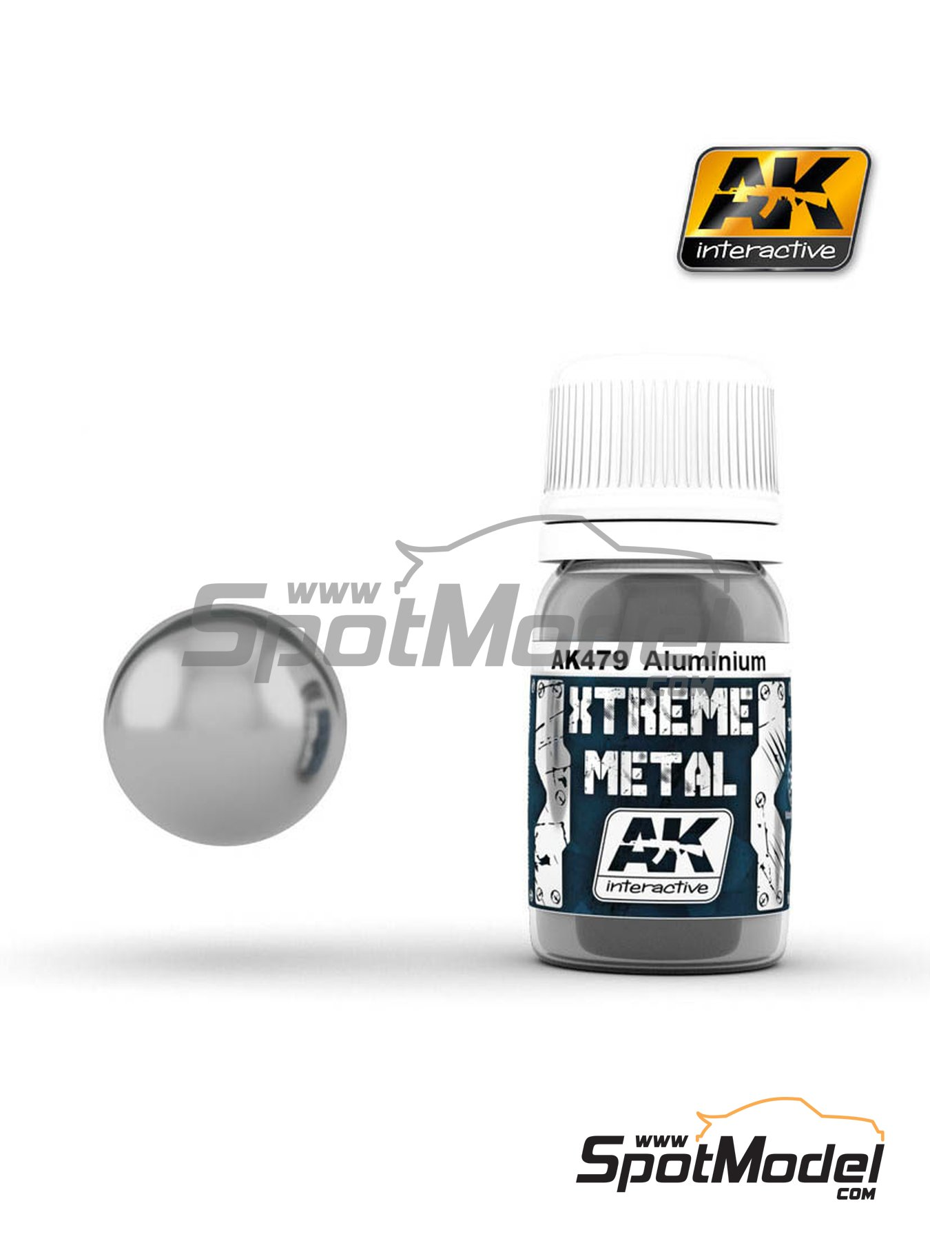 Aluminium | Xtreme metal paint manufactured by AK Interactive (ref. AK-479) image