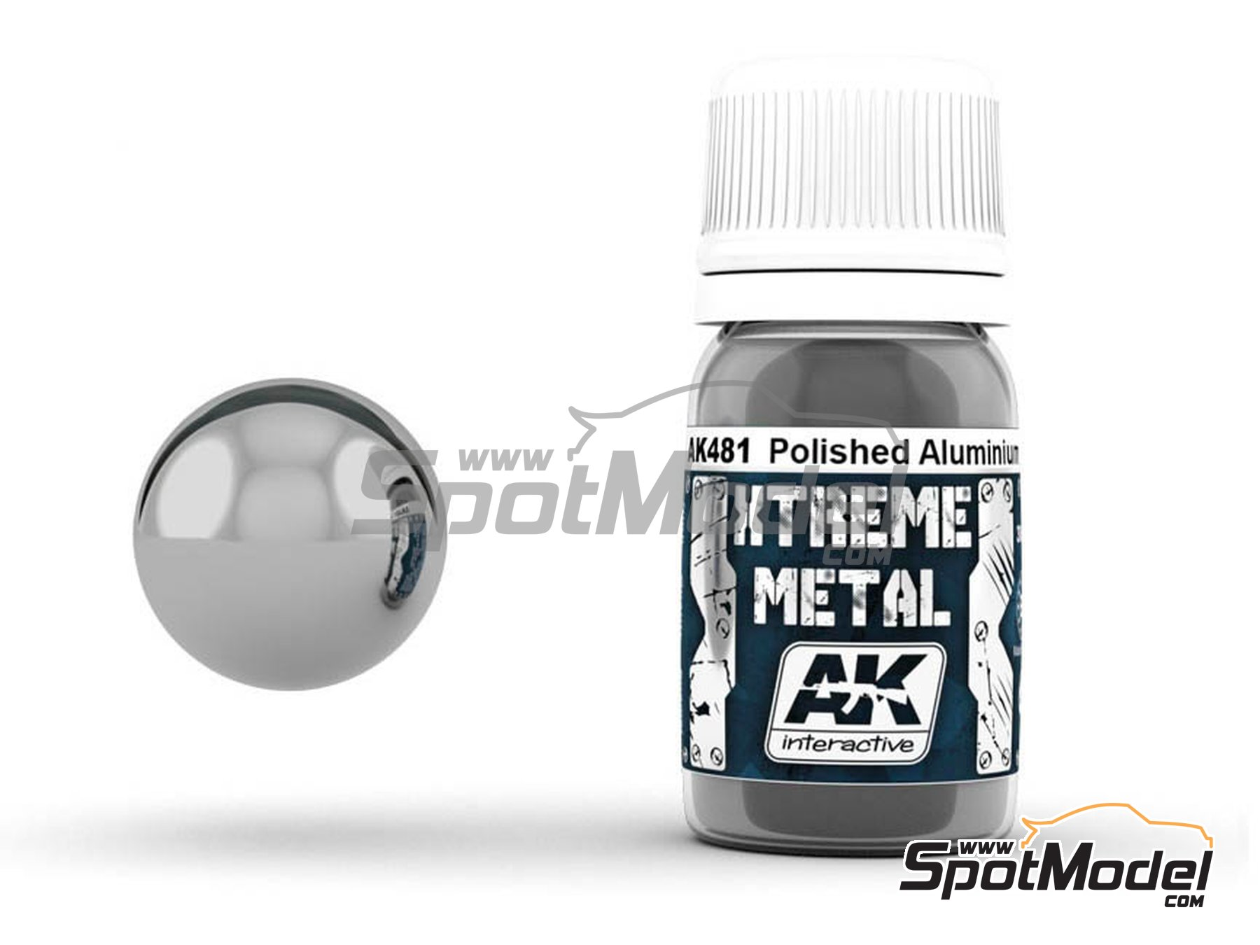 Image 1: Polished aluminium | Xtreme metal paint manufactured by AK Interactive (ref. AK-481)