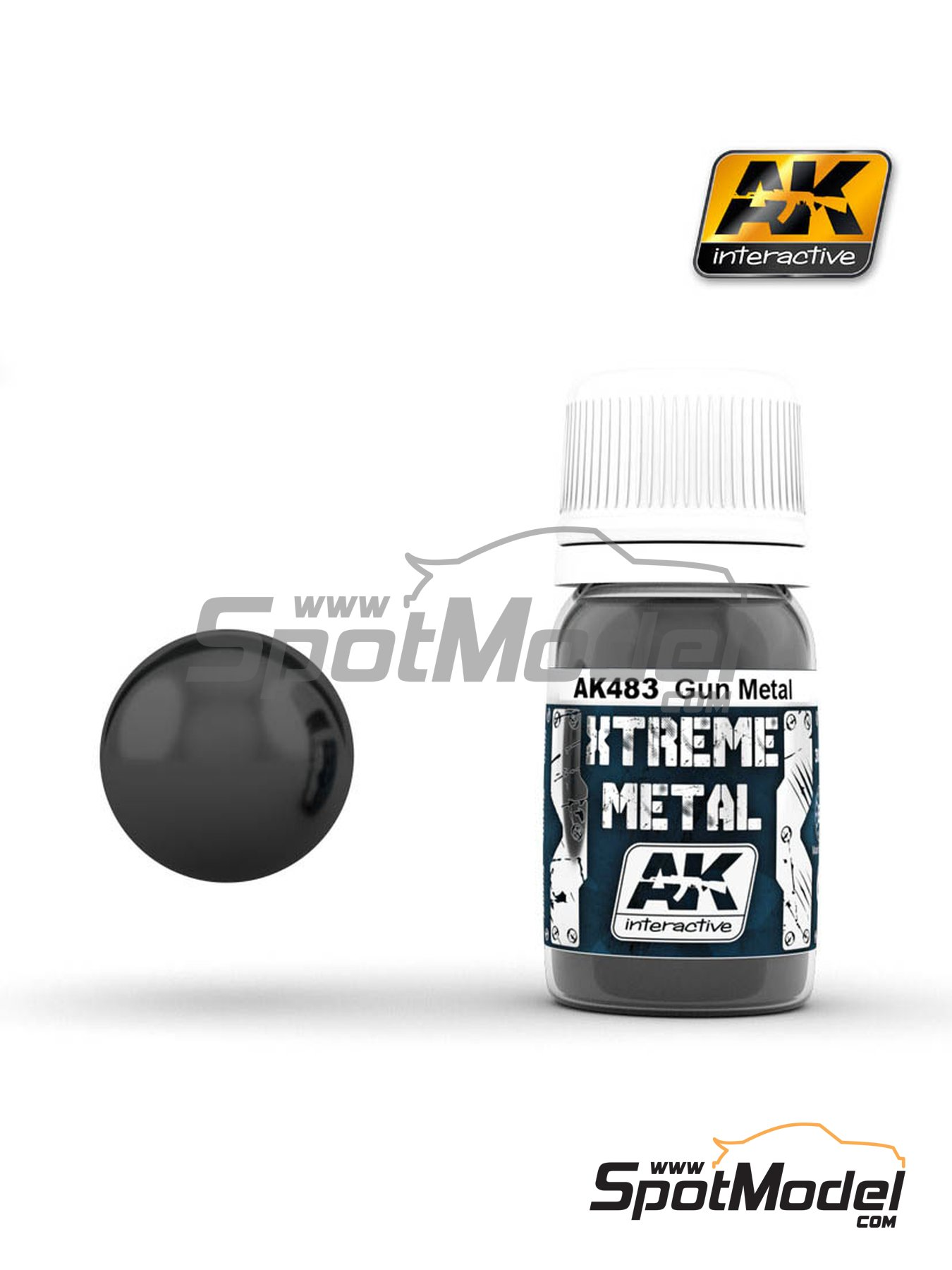 Gun metal | Xtreme metal paint manufactured by AK Interactive (ref. AK-483) image