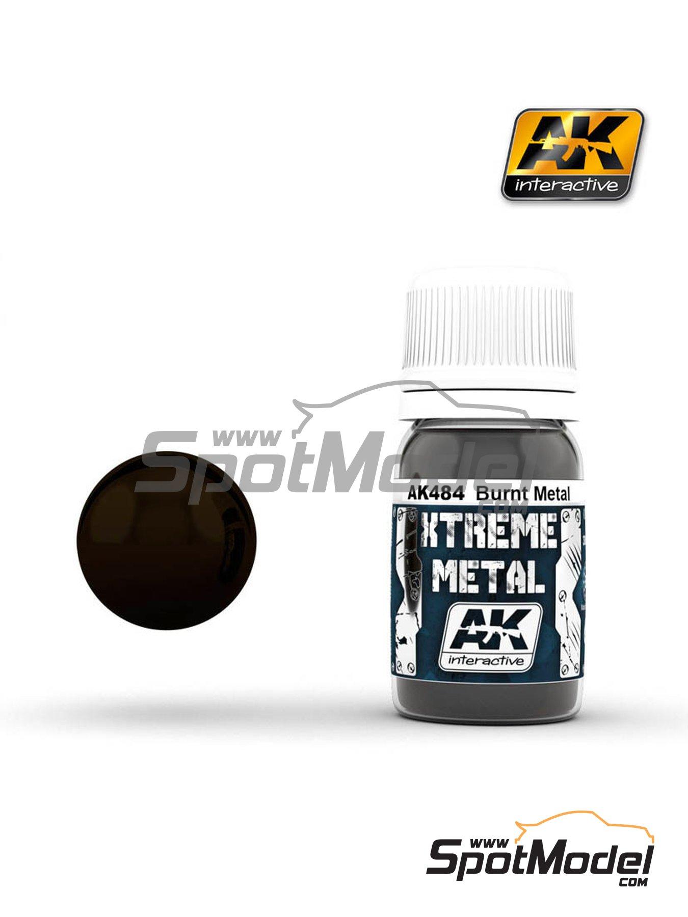 Burnt metal | Xtreme metal paint manufactured by AK Interactive (ref.AK-484) image