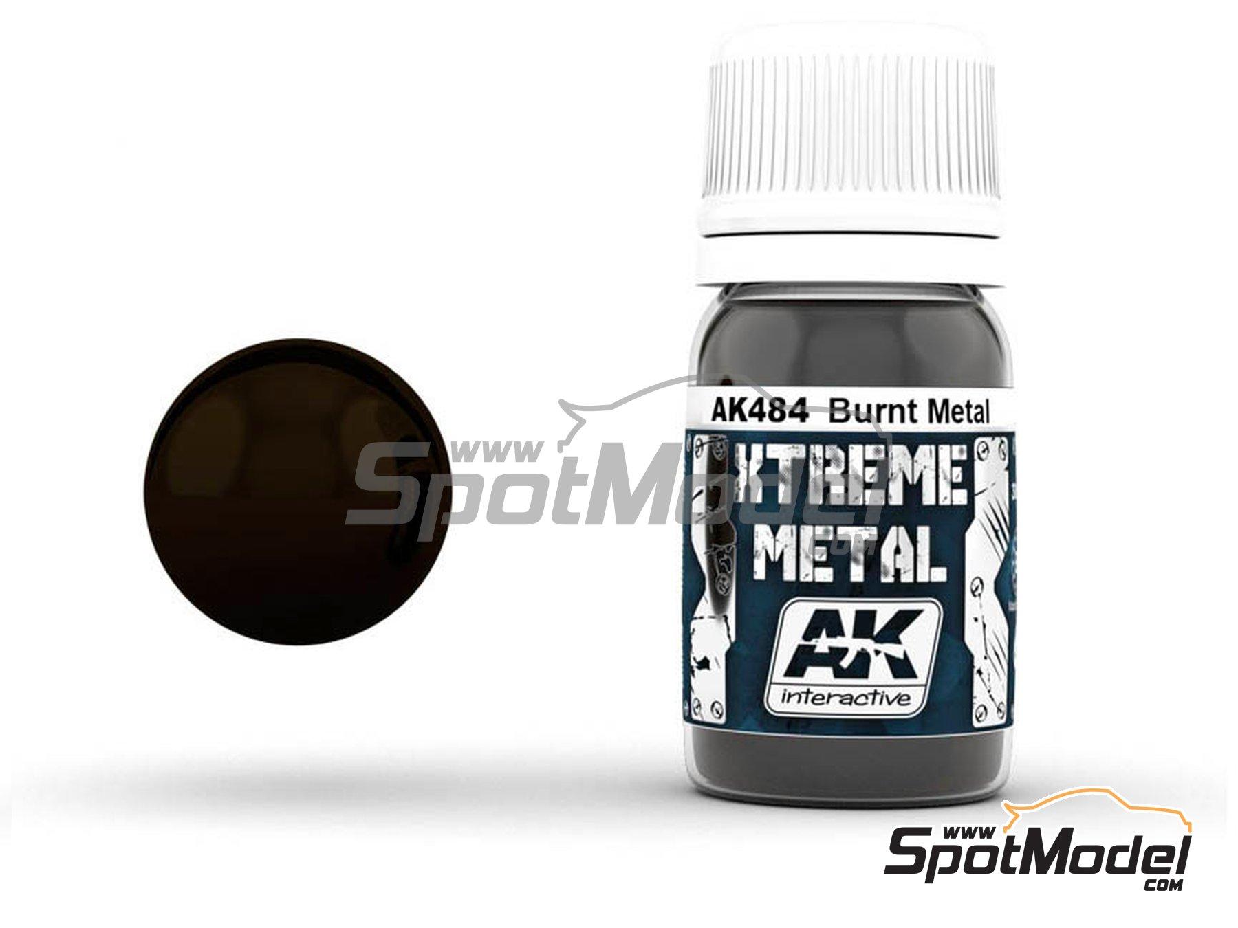Image 1: Burnt metal | Xtreme metal paint manufactured by AK Interactive (ref.AK-484)