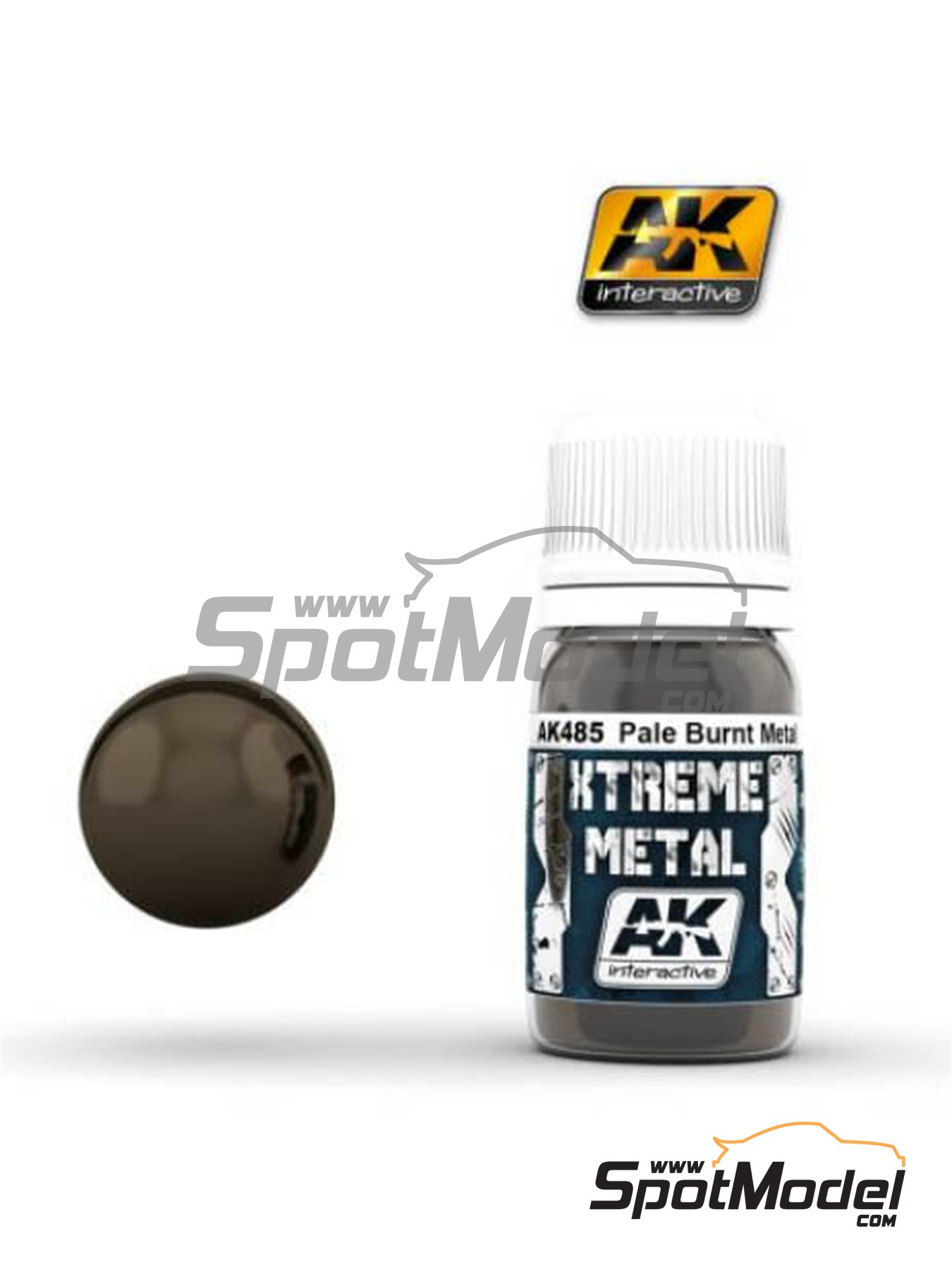 Pale burnt metal | Xtreme metal paint manufactured by AK Interactive (ref. AK-485) image