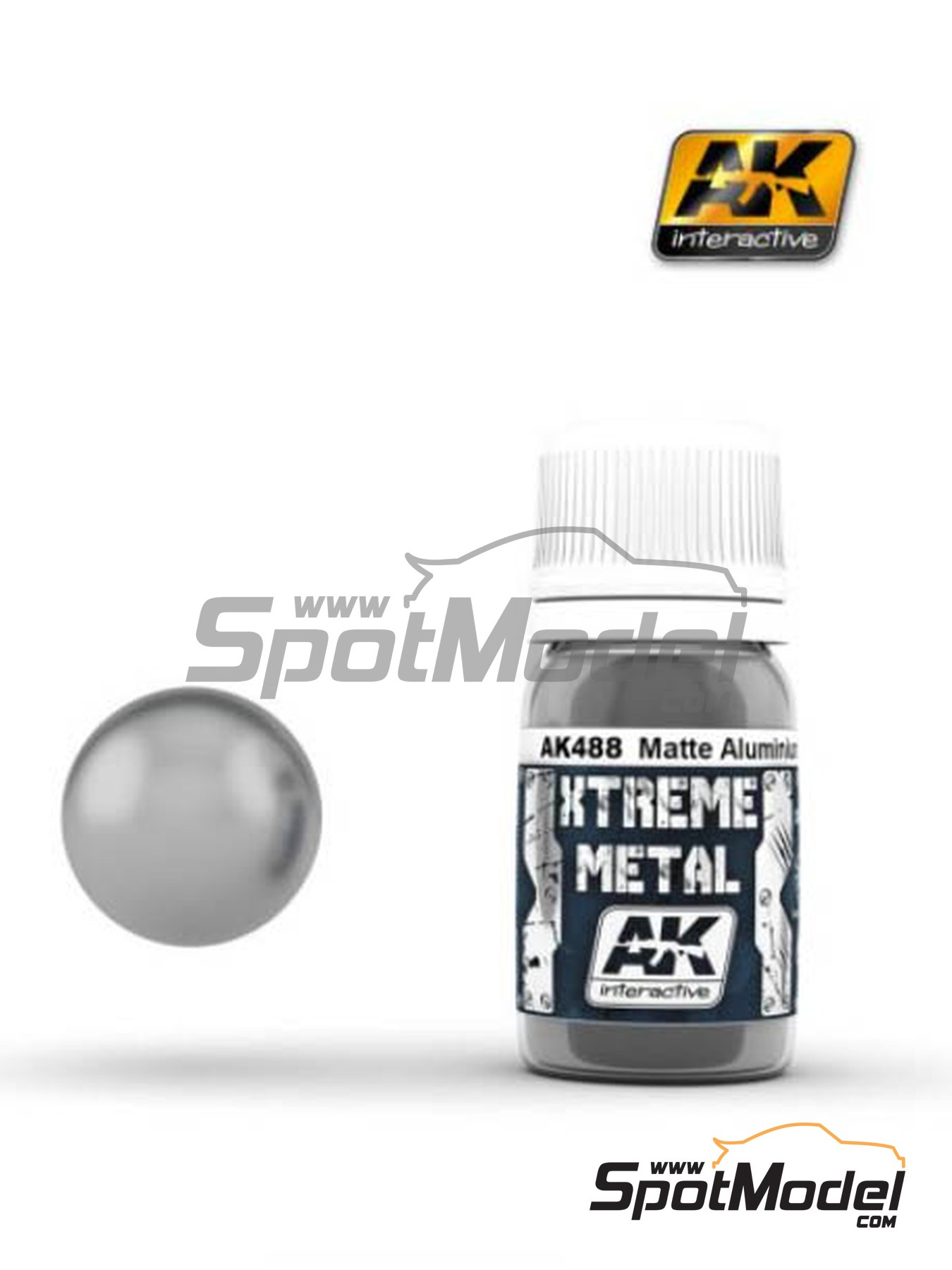 Matte aluminium | Xtreme metal paint manufactured by AK Interactive (ref. AK-488) image