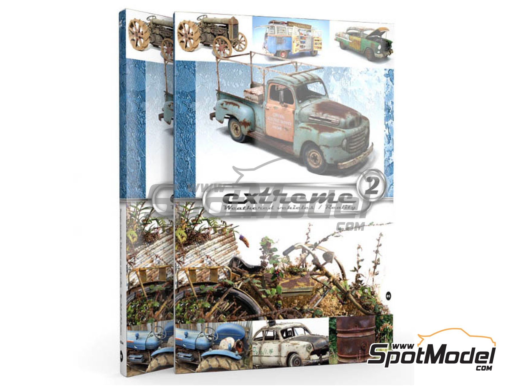 Image 1: Extreme2 - Extreme Weathered vehicles + Extreme reality: Spanish language | Book manufactured by AK Interactive (ref.AK-504)