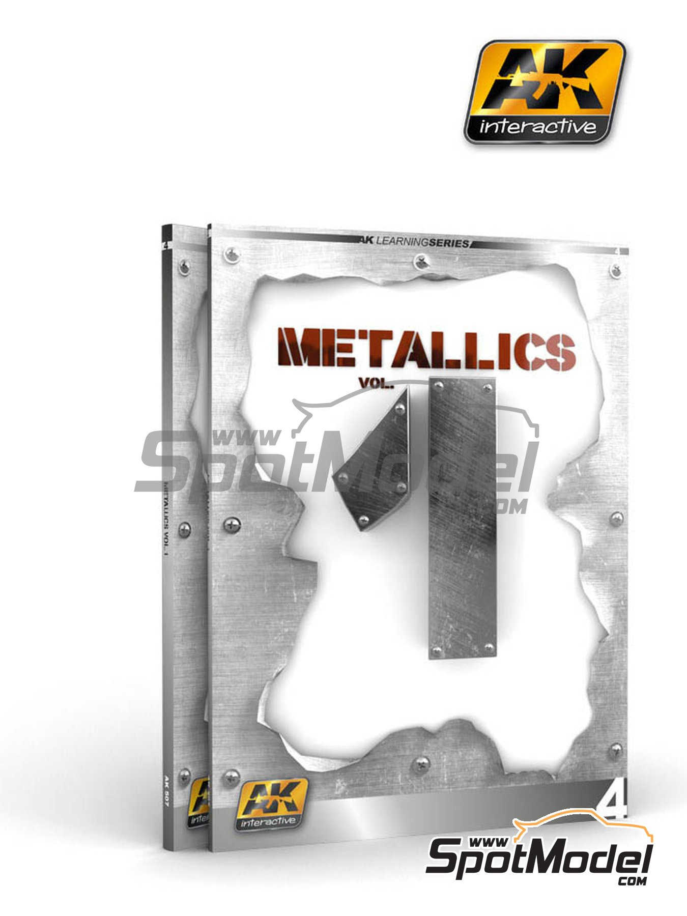 Metallics Volumen 1 - Learning series 04 | Libro fabricado por AK Interactive (ref. AK-507) image