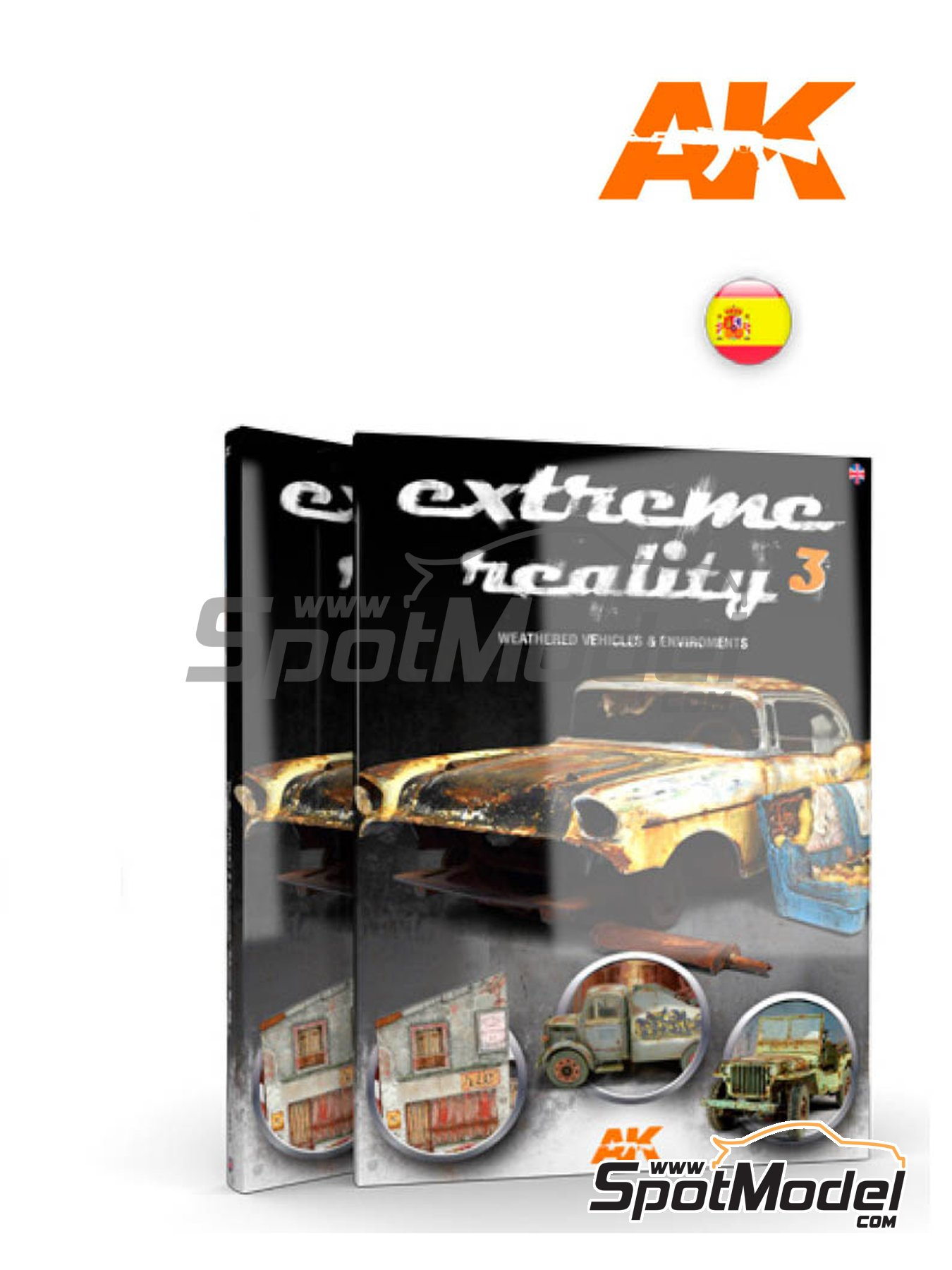 Extreme Reality 3 - Vehiculos y entornos degradados | Book manufactured by AK Interactive (ref.AK-509) image