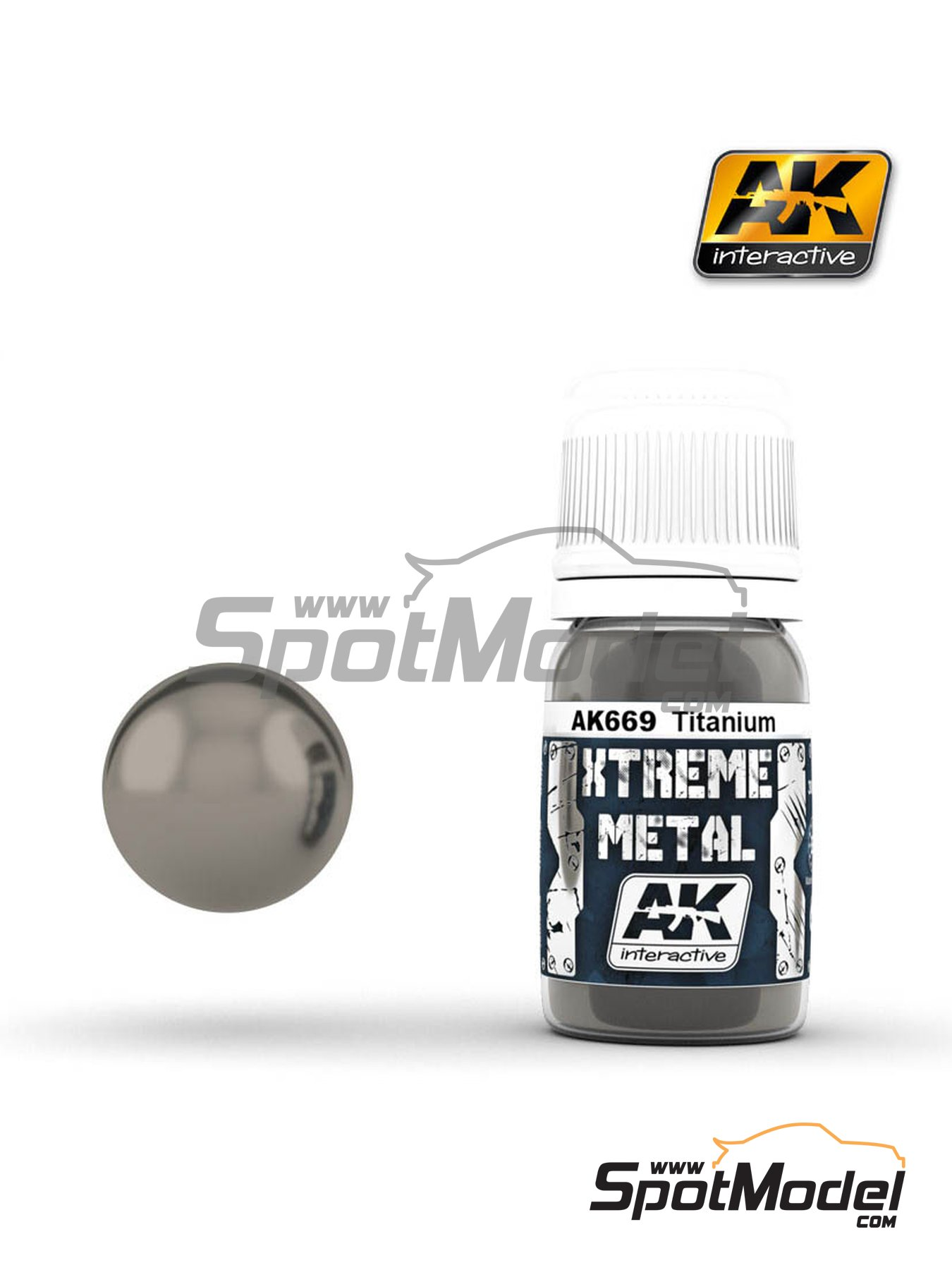 Titanium | Xtreme metal paint manufactured by AK Interactive (ref. AK-669) image