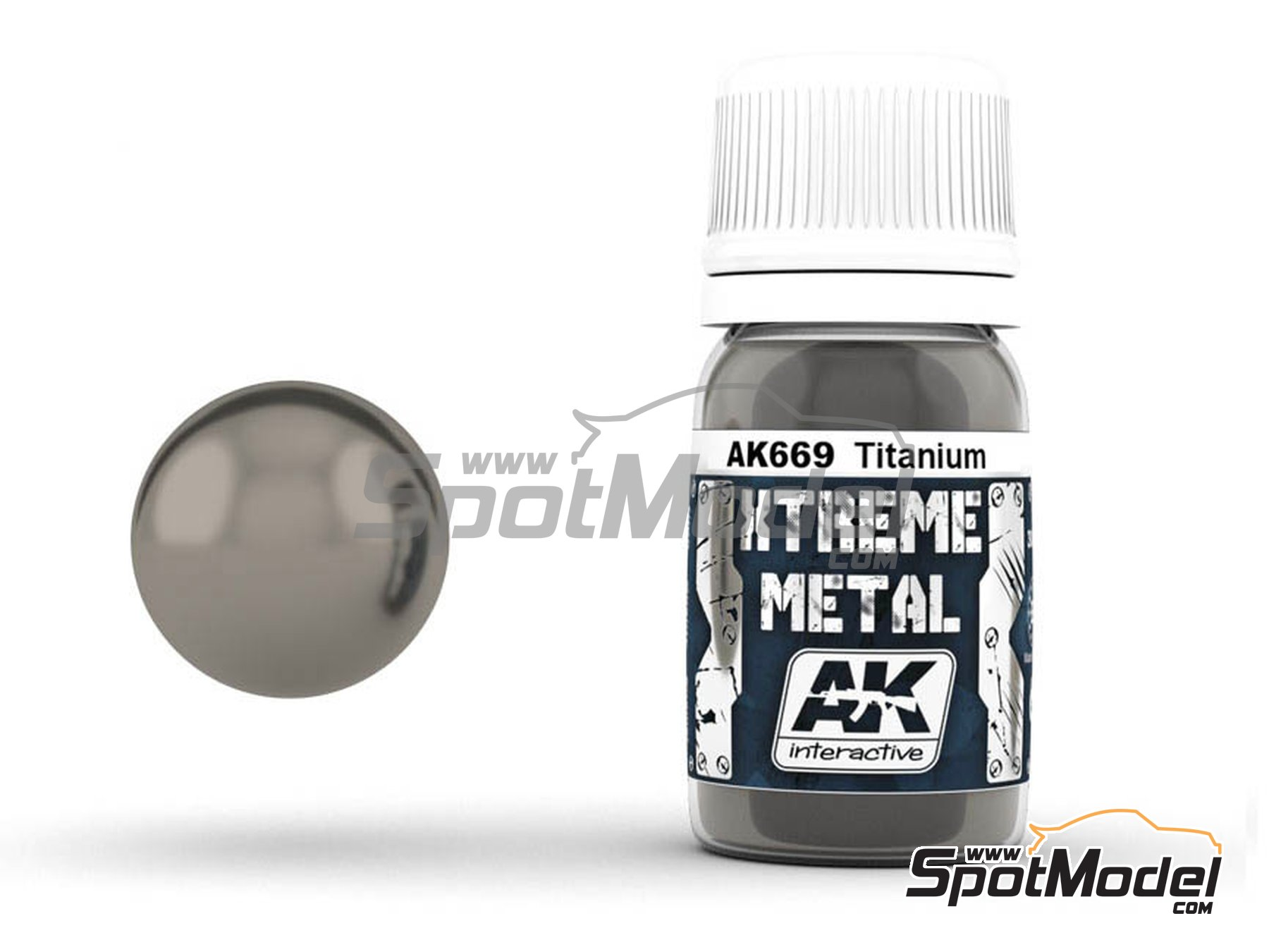 Image 1: Titanium | Xtreme metal paint manufactured by AK Interactive (ref. AK-669)
