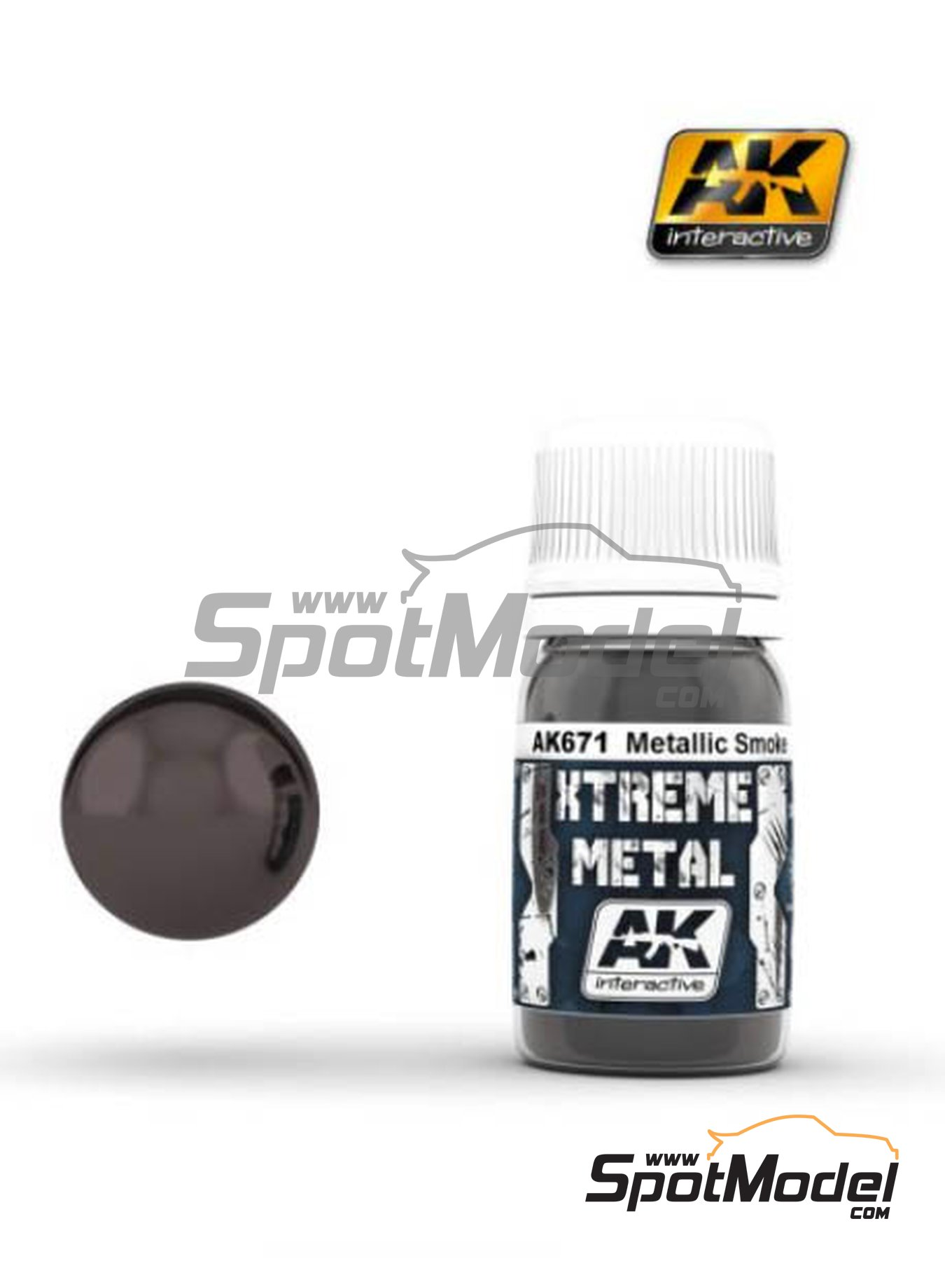 Metallic smoke | Xtreme metal paint manufactured by AK Interactive (ref.AK-671) image