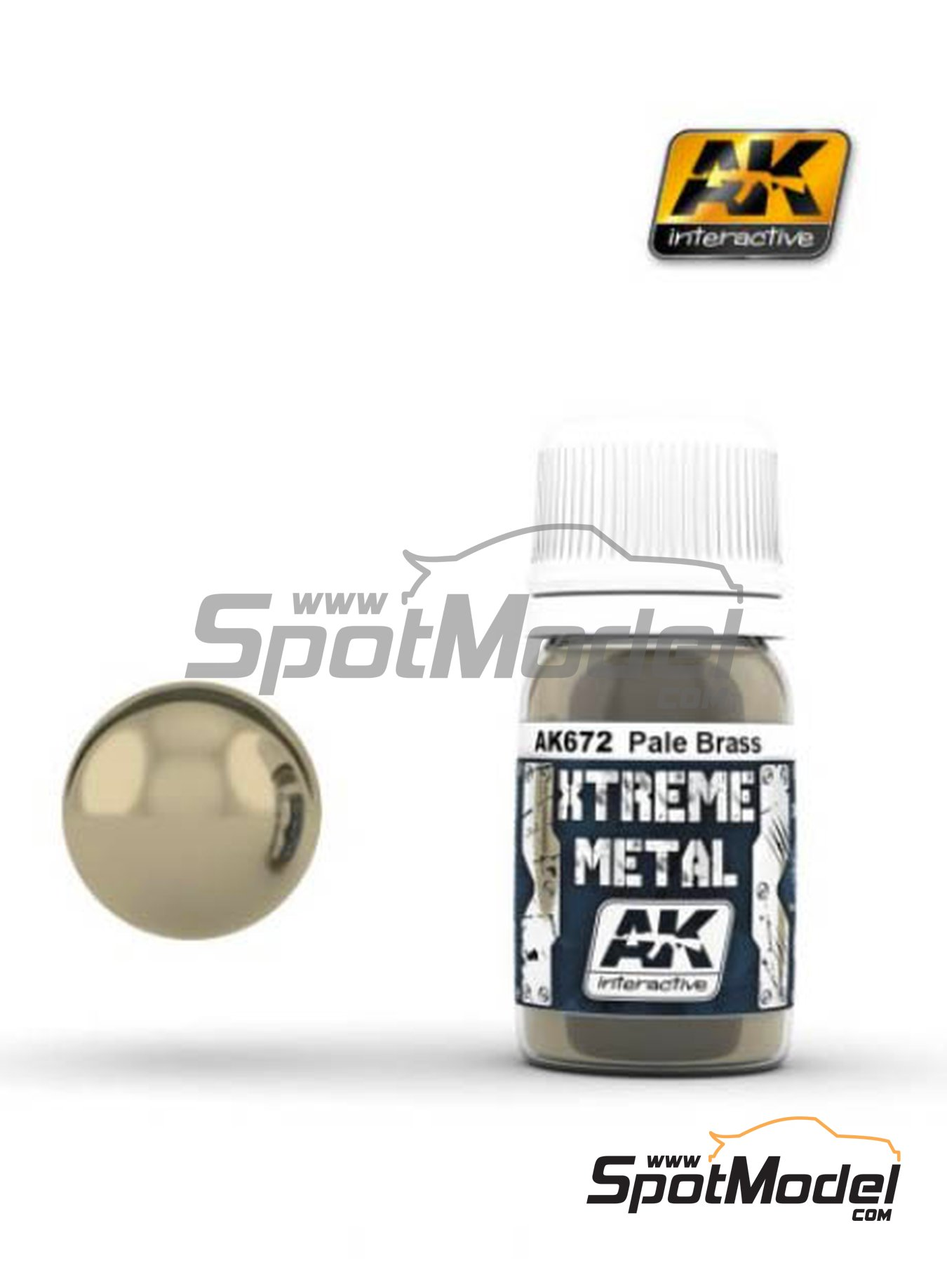 Pale brass | Xtreme metal paint manufactured by AK Interactive (ref. AK-672) image