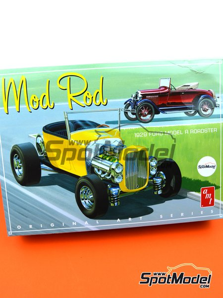 Ford Model A Roadster Mod Rod -  1929 | Maqueta de coche en escala1/25 fabricado por AMT (ref.AMT1000) image