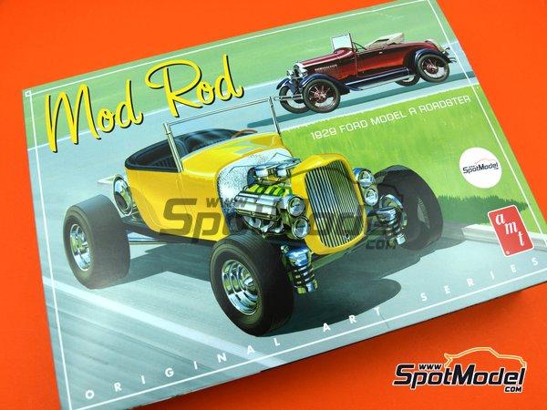 Image 11: Ford Model A Roadster Mod Rod -  1929 | Maqueta de coche en escala1/25 fabricado por AMT (ref.AMT1000)