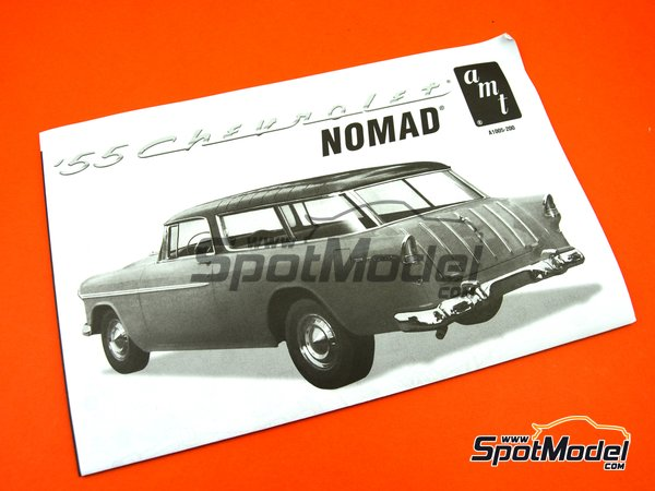 Image 7: Chevrolet Nomad Wagon -  1955 | Model car kit in 1/16 scale manufactured by AMT (ref. AMT1005)