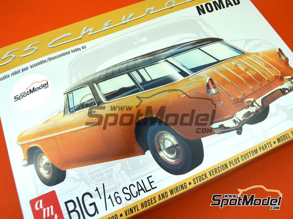 Image 14: Chevrolet Nomad Wagon -  1955 | Model car kit in 1/16 scale manufactured by AMT (ref. AMT1005)