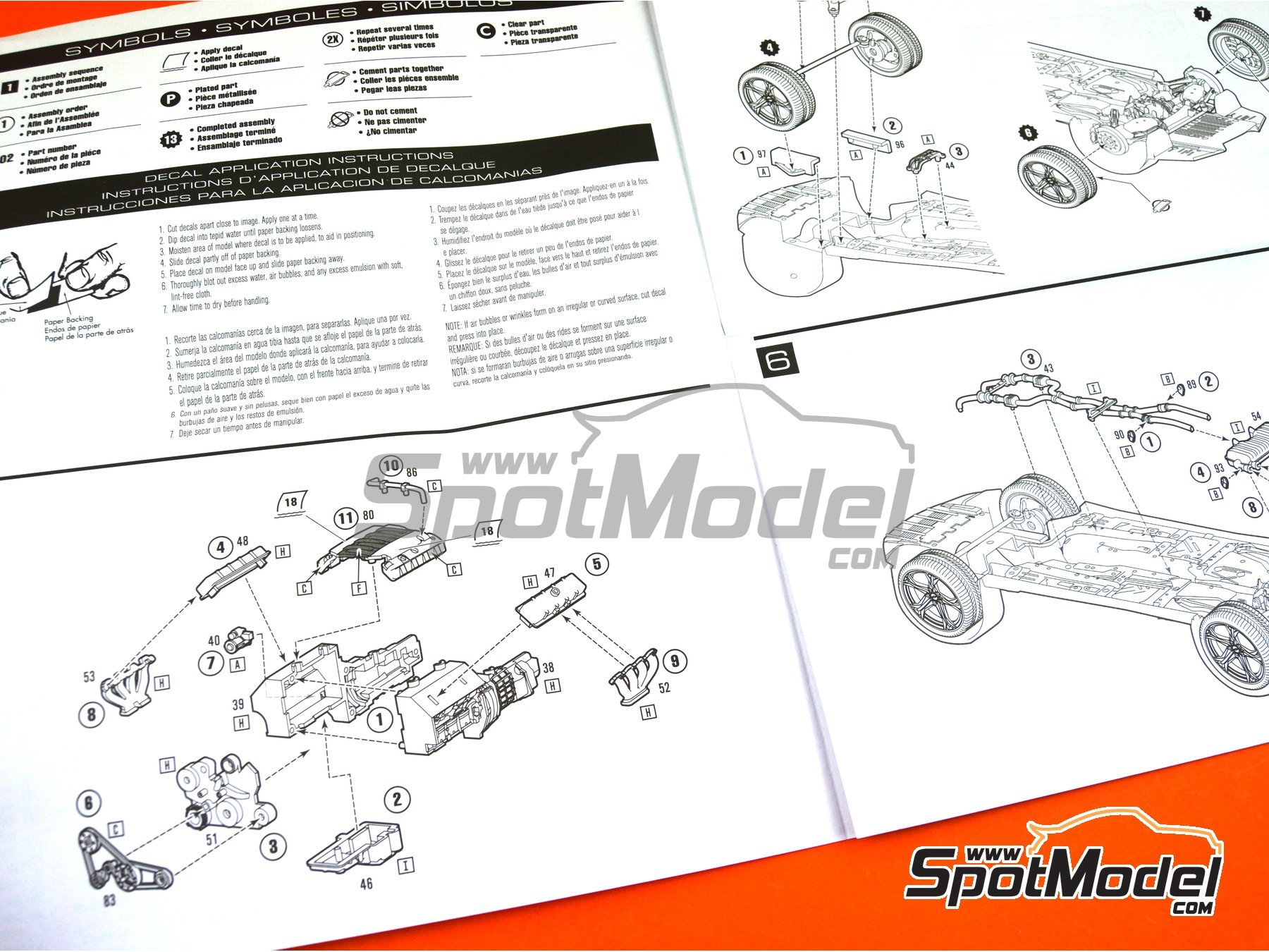 Image 14: Chevrolet Camaro SS LE1 -  2017 | Model car kit in 1/25 scale manufactured by AMT (ref.AMT1074)