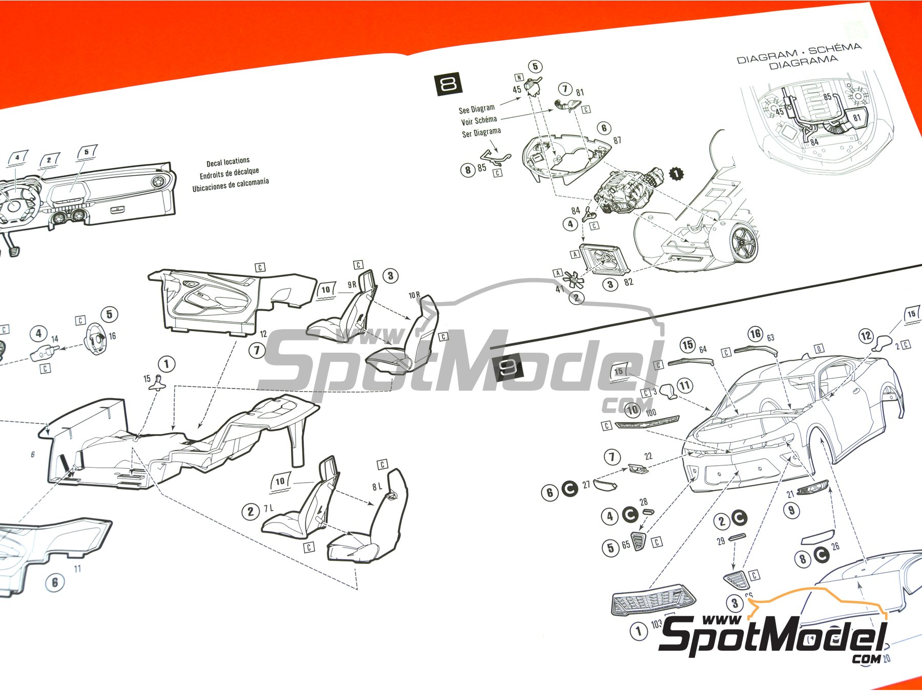 Image 15: Chevrolet Camaro SS LE1 -  2017 | Model car kit in 1/25 scale manufactured by AMT (ref.AMT1074)