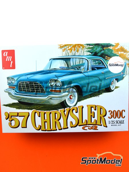 Chrysler 300C -  1957 | Model car kit in 1/25 scale manufactured by AMT (ref.AMT1100) image