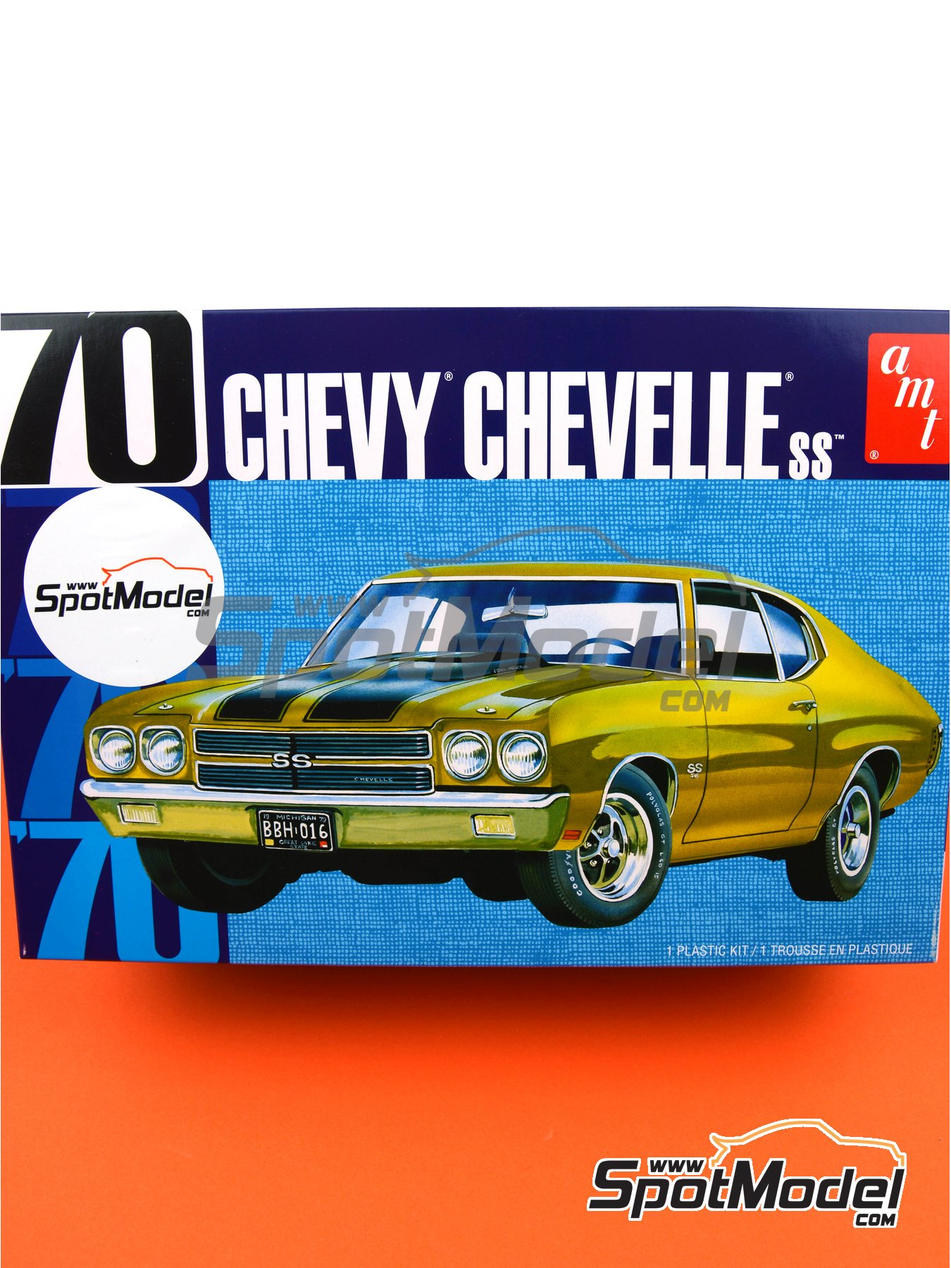Chevrolet Chevy Chevelle SS -  1970 | Model car kit in 1/25 scale manufactured by AMT (ref.AMT1143) image