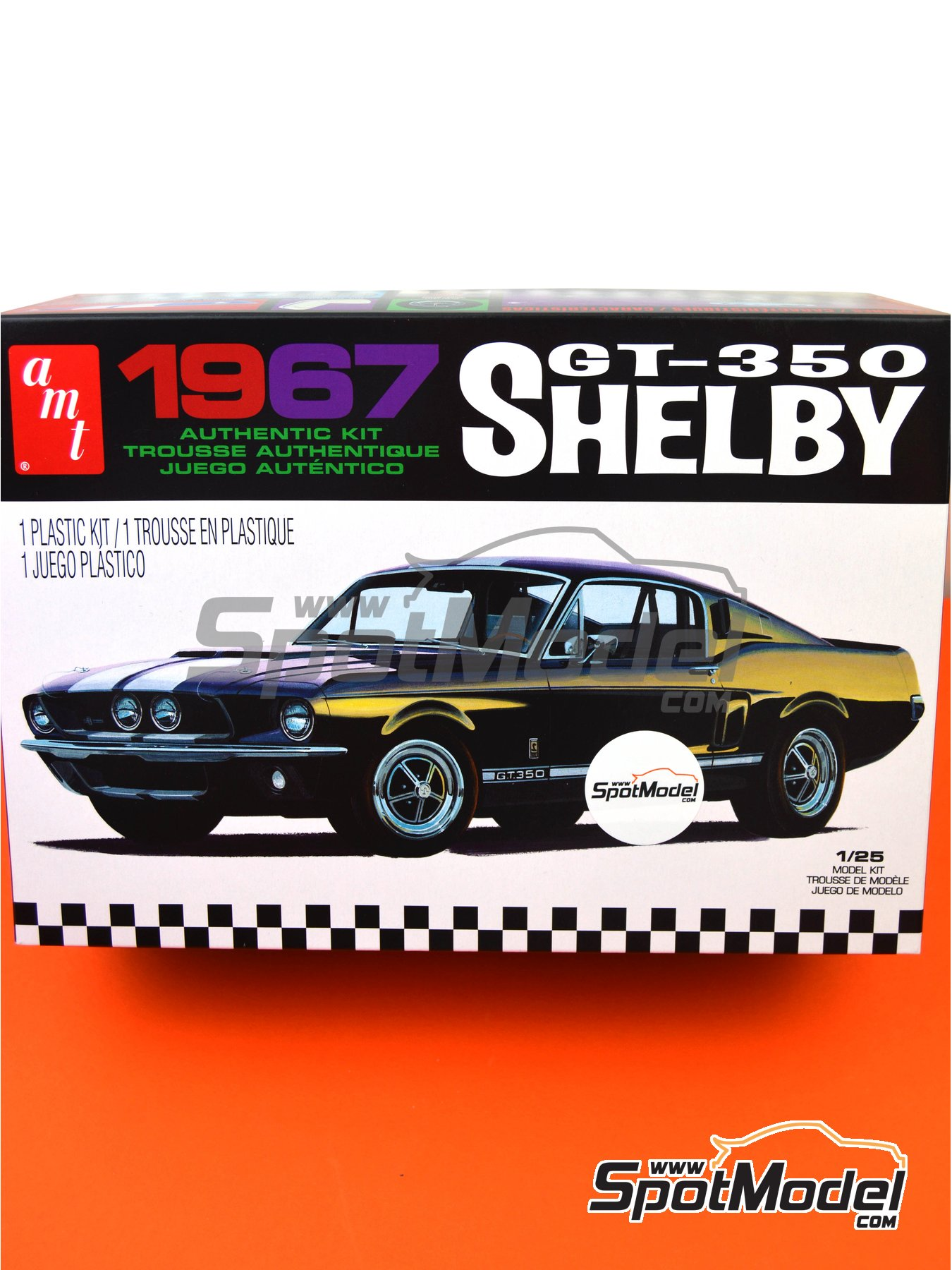 Ford Shelby GT-350 -  1967 | Model car kit in 1/25 scale manufactured by AMT (ref. AMT834) image