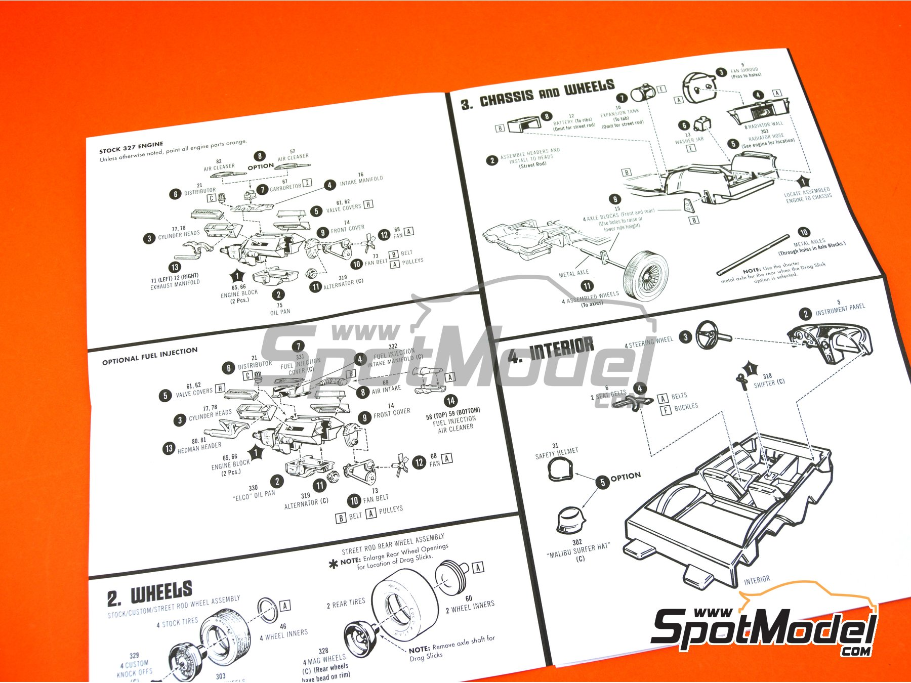 Image 11: Chevrolet Corvette Sting Ray -  1963 | Model car kit in 1/25 scale manufactured by AMT (ref.AMT861)