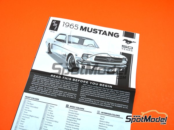 Image 12: Ford Mustang -  1965 | Model car kit in 1/16 scale manufactured by AMT (ref. AMT872)