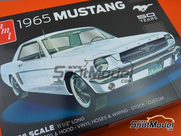 Image 16: Ford Mustang -  1965 | Model car kit in 1/16 scale manufactured by AMT (ref.AMT872)