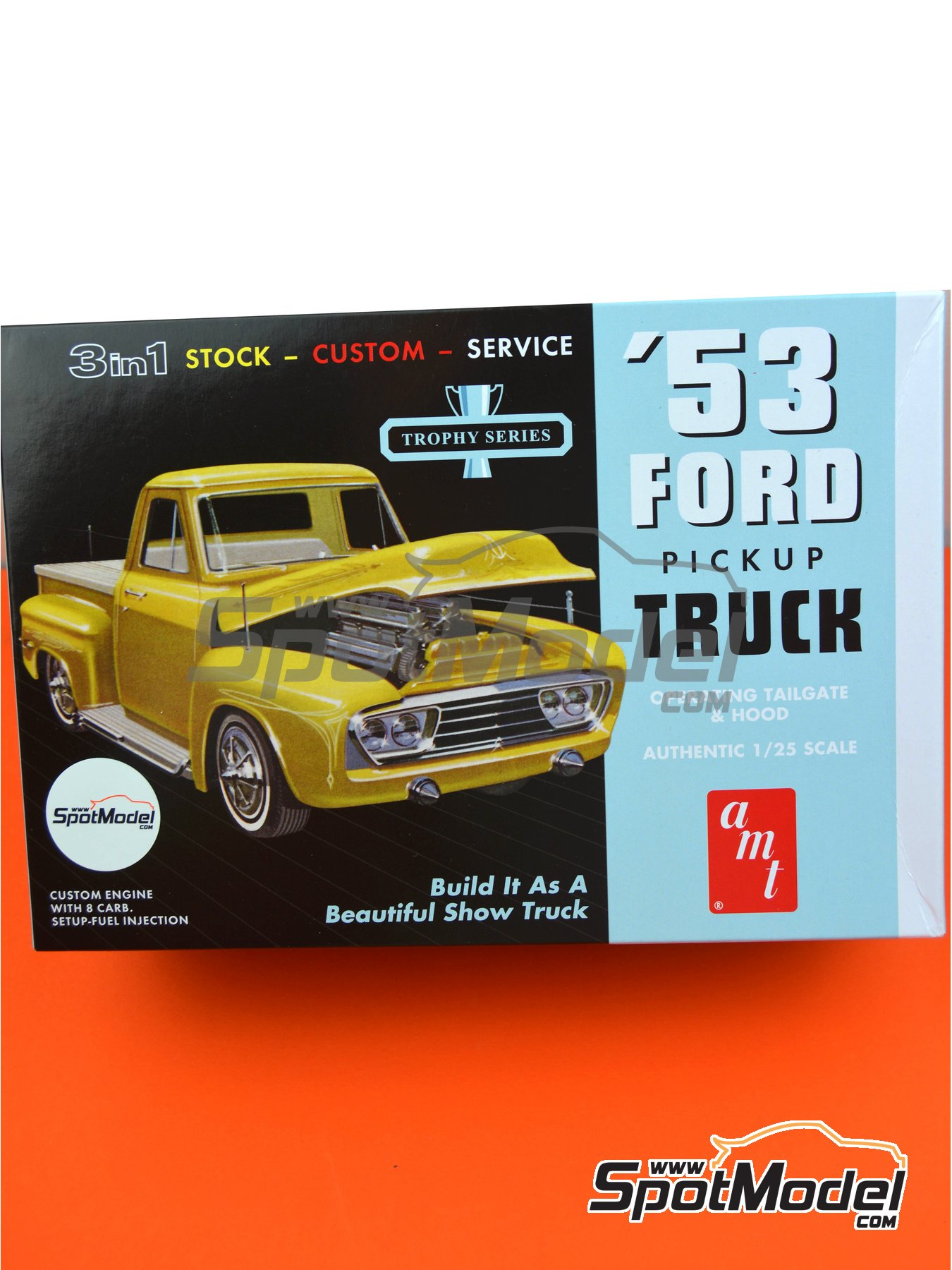 Ford F100 Pickup -  1953 | Model car kit in 1/25 scale manufactured by AMT (ref. AMT882) image
