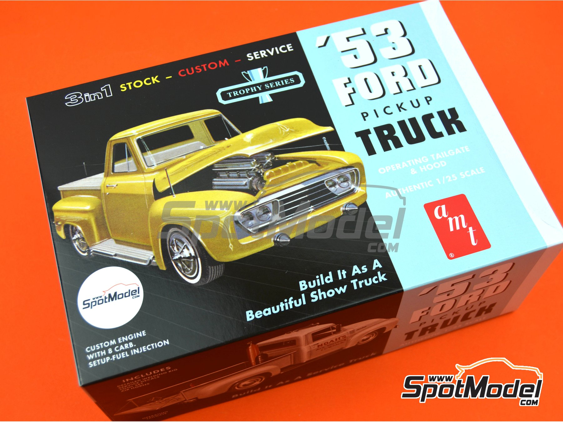 Image 13: Ford F100 Pickup -  1953 | Model car kit in 1/25 scale manufactured by AMT (ref. AMT882)