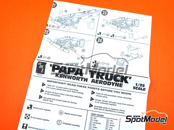 Image 11: Kenworth Aerodyne Tyrone Malone's Papa Truck | Model truck kit in 1/25 scale manufactured by AMT (ref. AMT932)