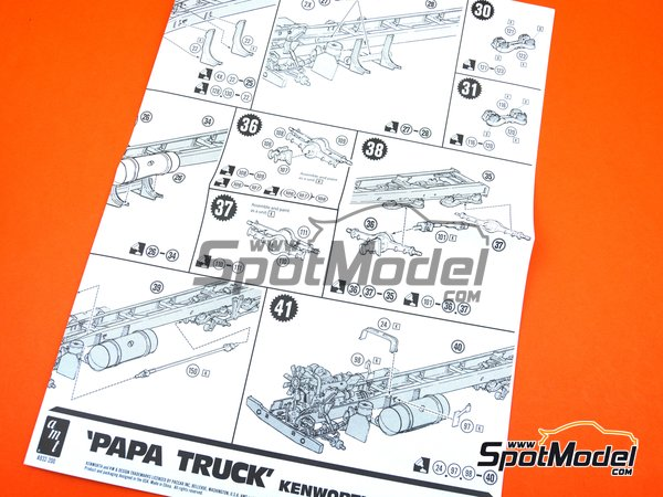 Image 12: Kenworth Aerodyne Tyrone Malone's Papa Truck | Model truck kit in 1/25 scale manufactured by AMT (ref. AMT932)