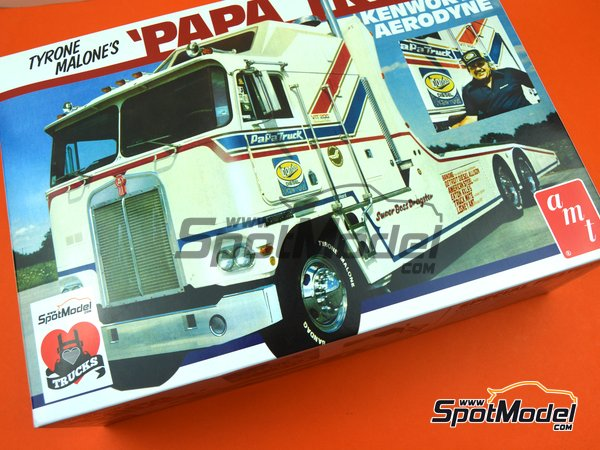 Image 17: Kenworth Aerodyne Tyrone Malone's Papa Truck | Model truck kit in 1/25 scale manufactured by AMT (ref. AMT932)