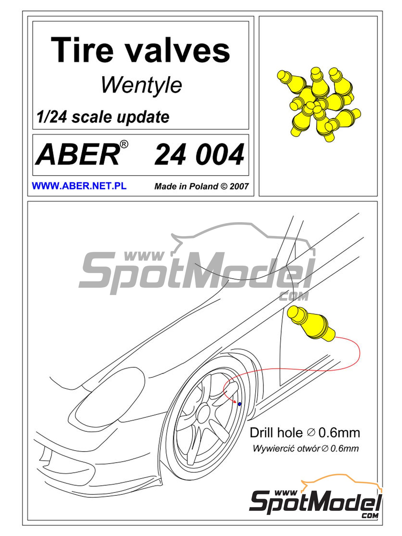 Air valves | Air valve in 1/24 scale manufactured by Aber (ref.24.004) image