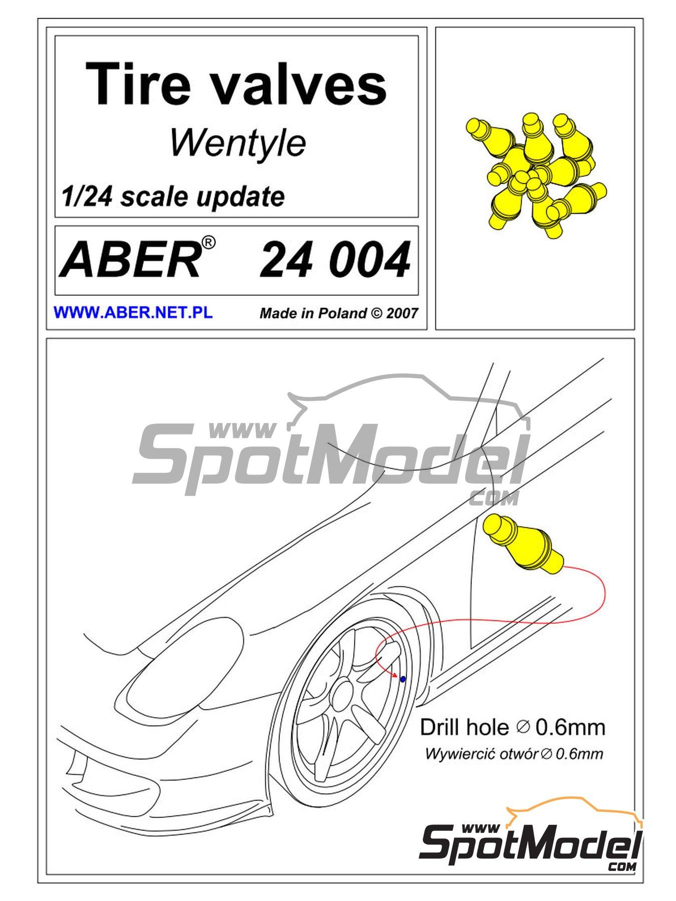 Válvulas de inflado | Válvula de inflado en escala1/24 fabricado por Aber (ref.24.004) image