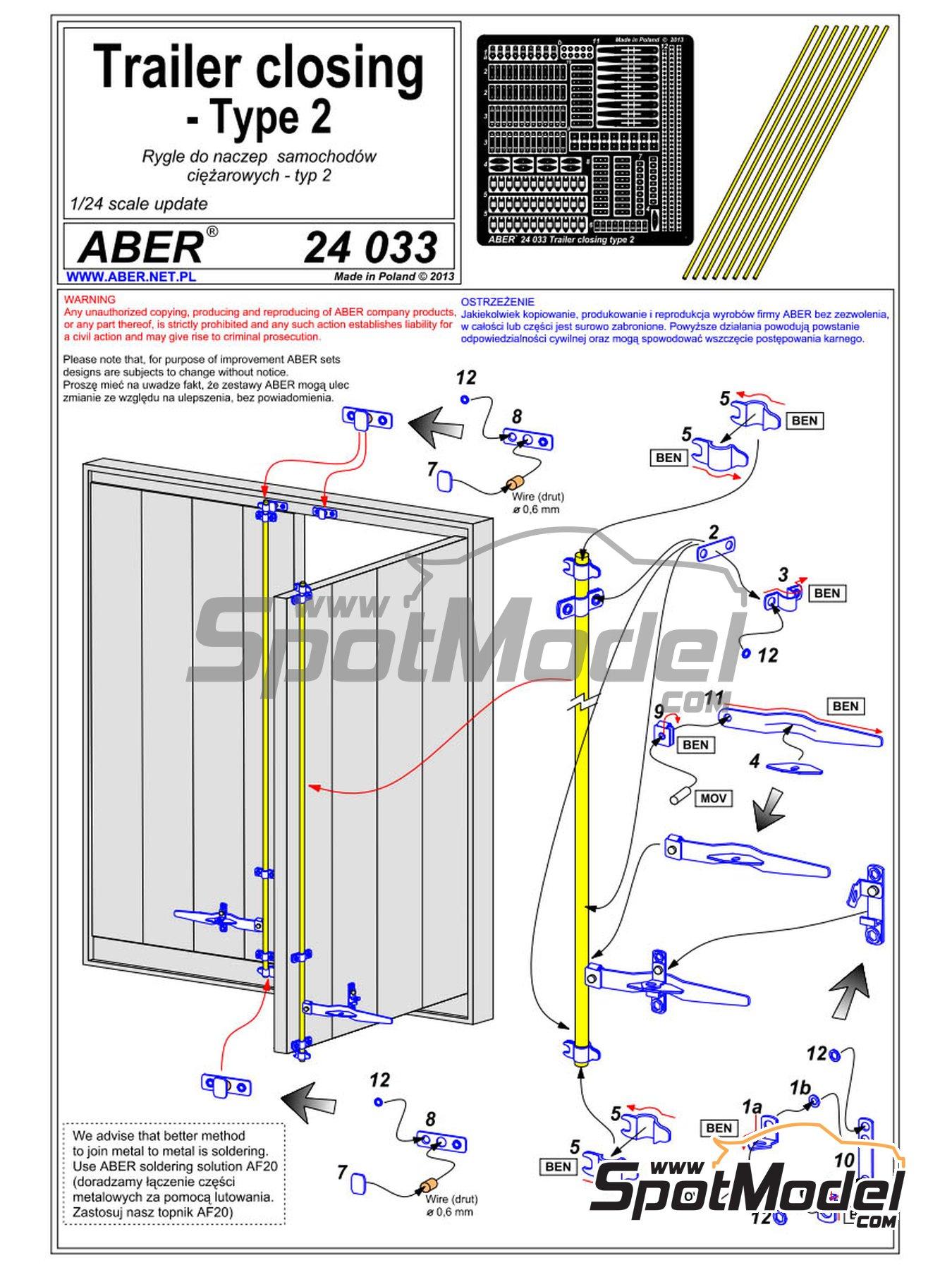 Cierres de trailer y container | Detalle en escala1/24 fabricado por Aber (ref.24.033) image