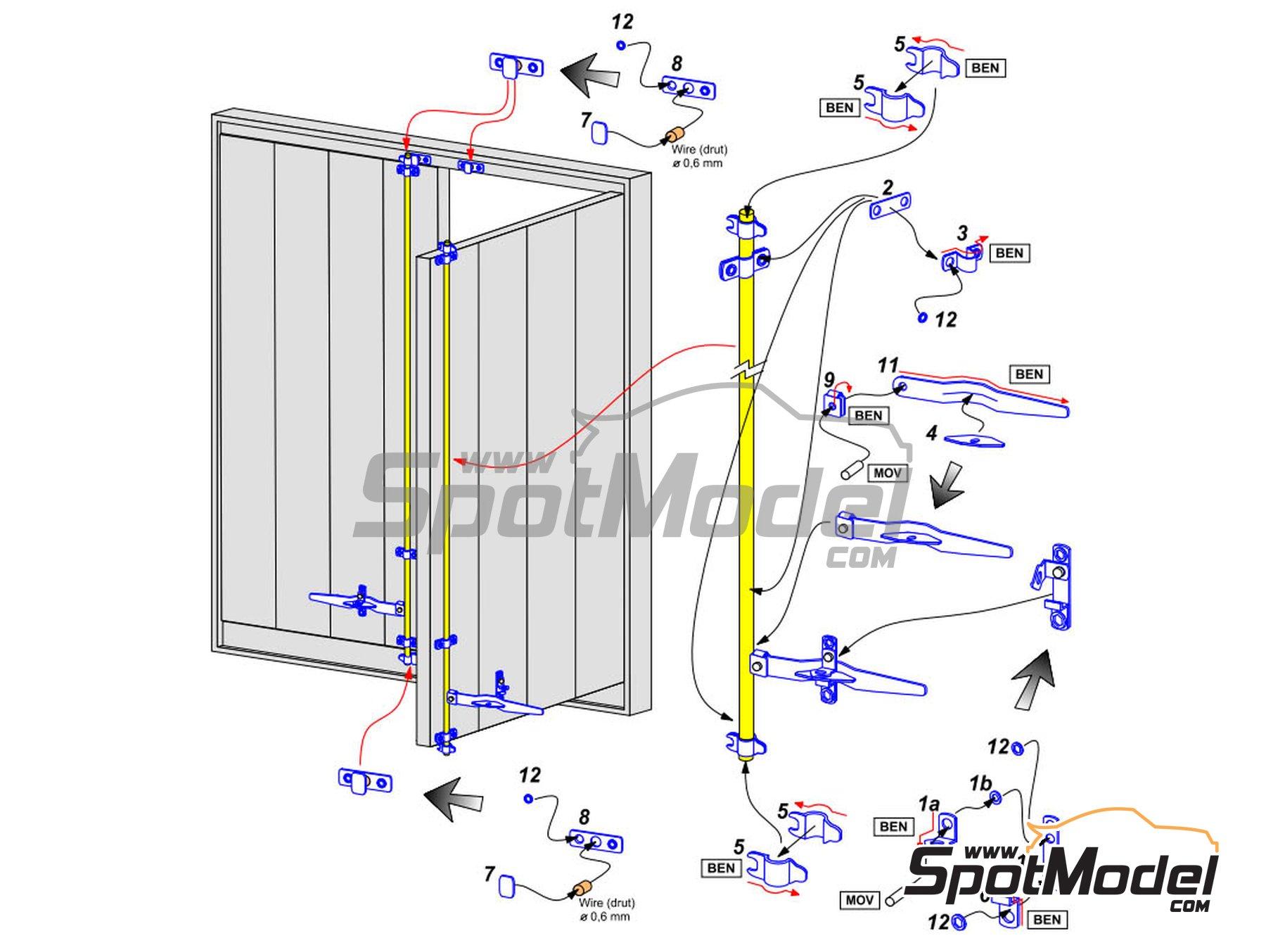 Image 1: Cierres de trailer y container | Detalle en escala1/24 fabricado por Aber (ref.24.033)