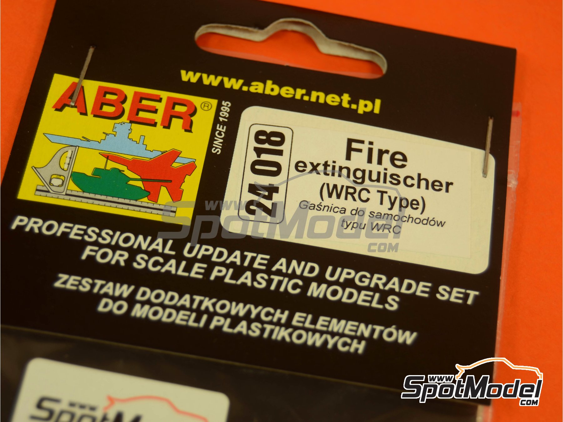 Image 3: WRC fire extinguisher | Fire extinguisher in 1/24 scale manufactured by Aber (ref. 24018)