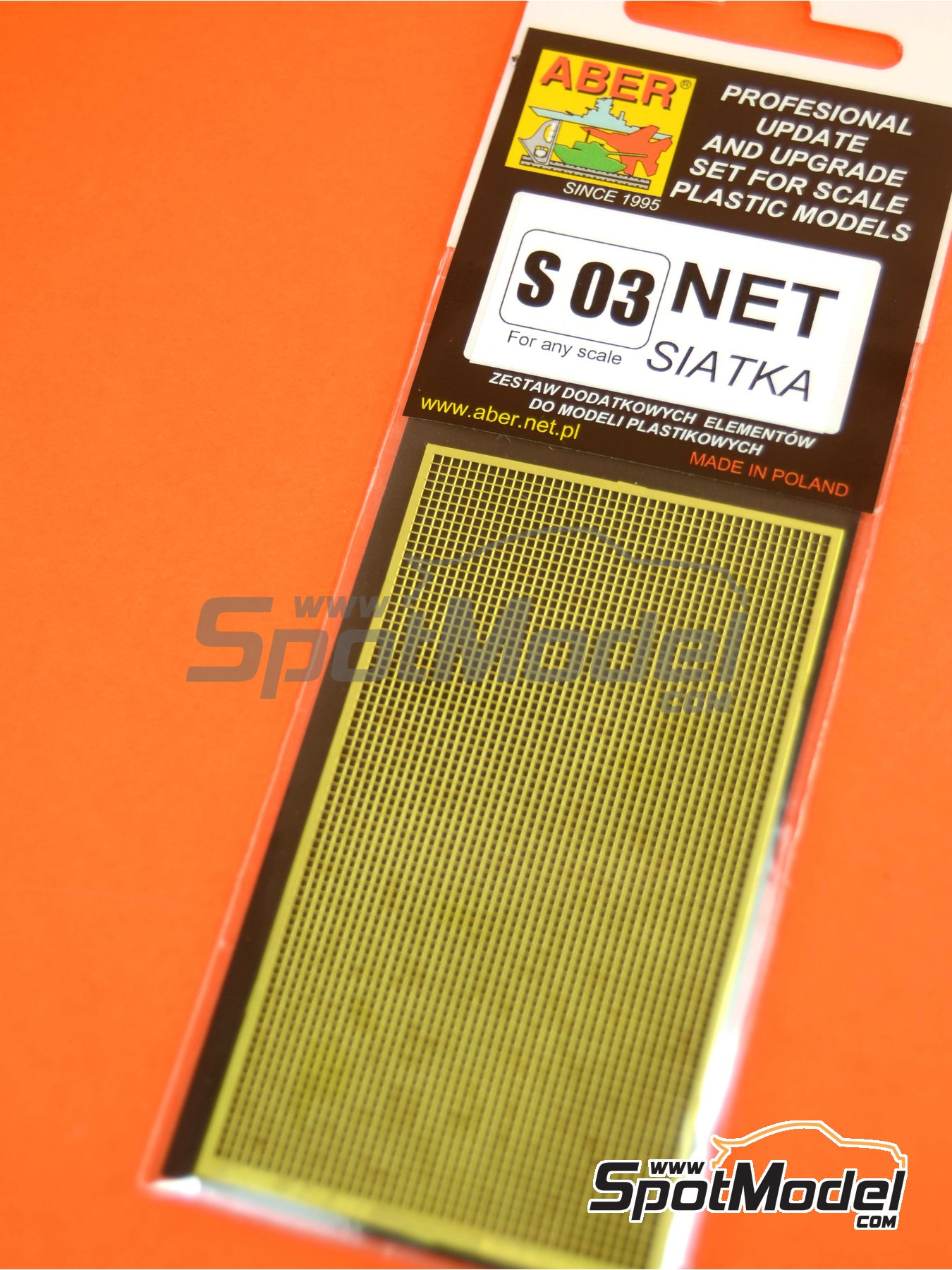 Square grid - 80x45 mm - 1,0x1,0 mm | Mesh manufactured by Aber (ref.S03) image