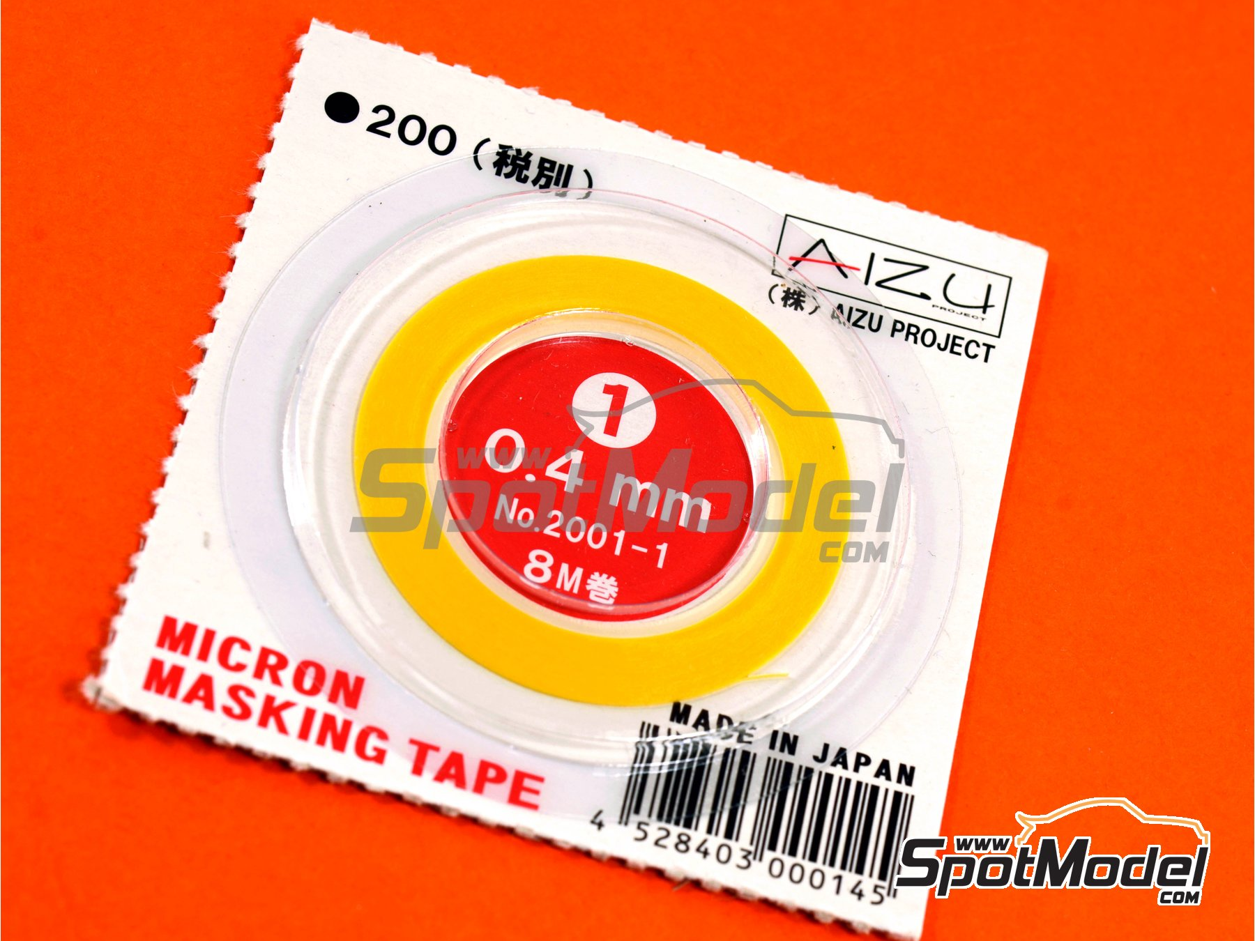 Image 1: Micron masking tape 0,4mm x 8m | Masks manufactured by Aizu Project (ref. AIZU-2001-1)
