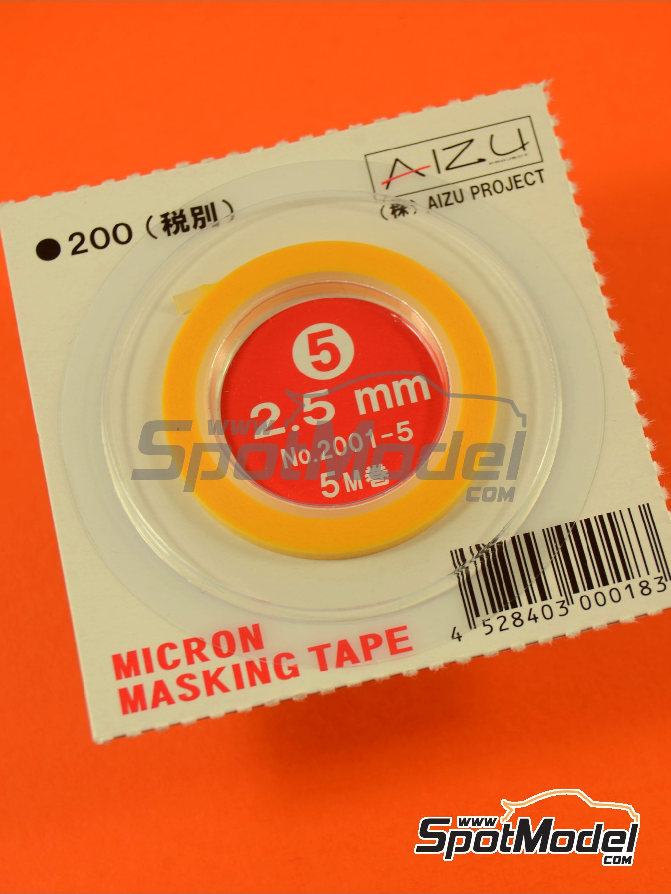 Micron masking tape 2,5mm x 5m | Masks manufactured by Aizu Project (ref. AIZU-2001-5) image