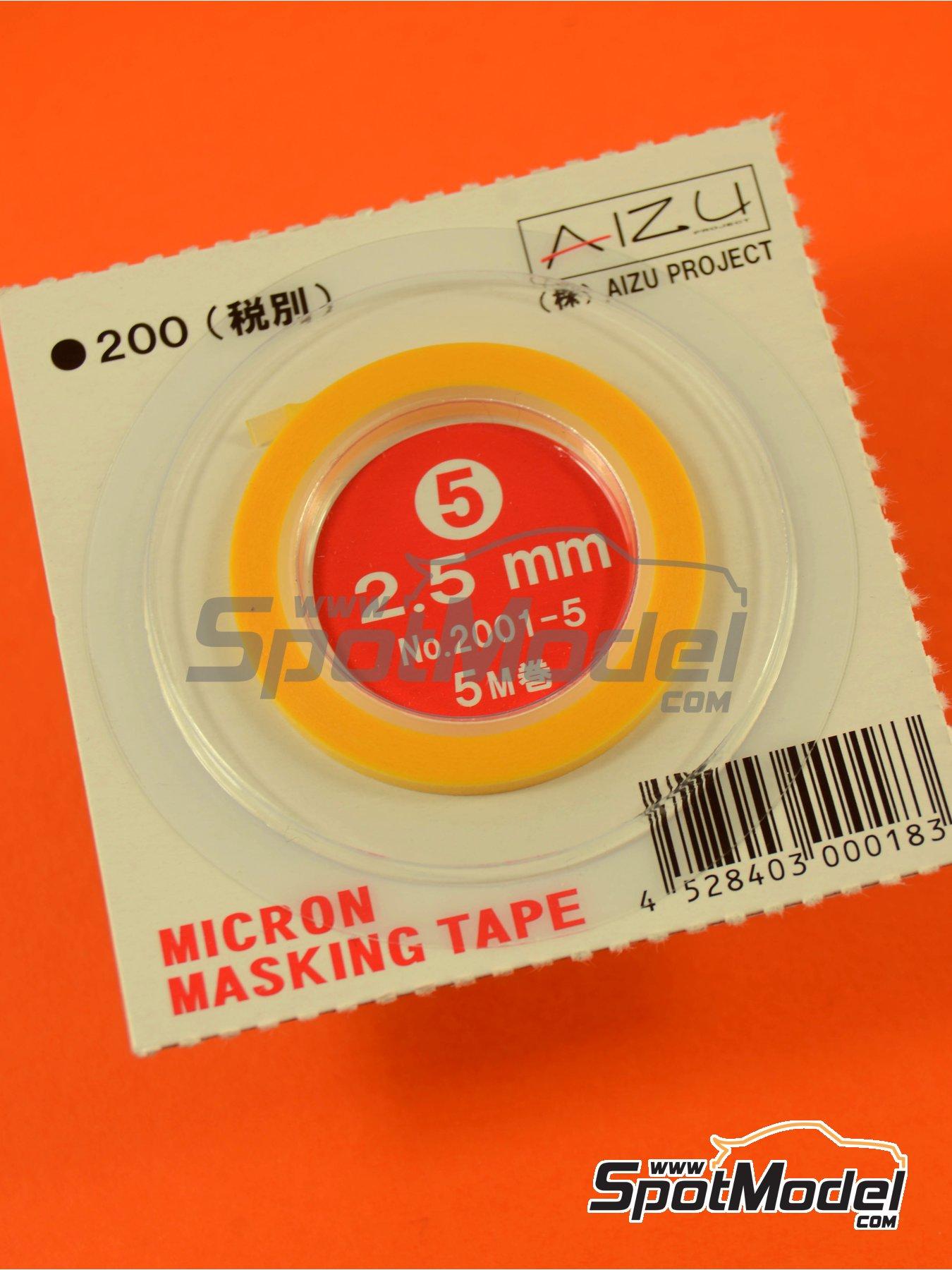 Micron masking tape 2,5mm x 5m | Masks manufactured by Aizu Project (ref.AIZU-2001-5) image