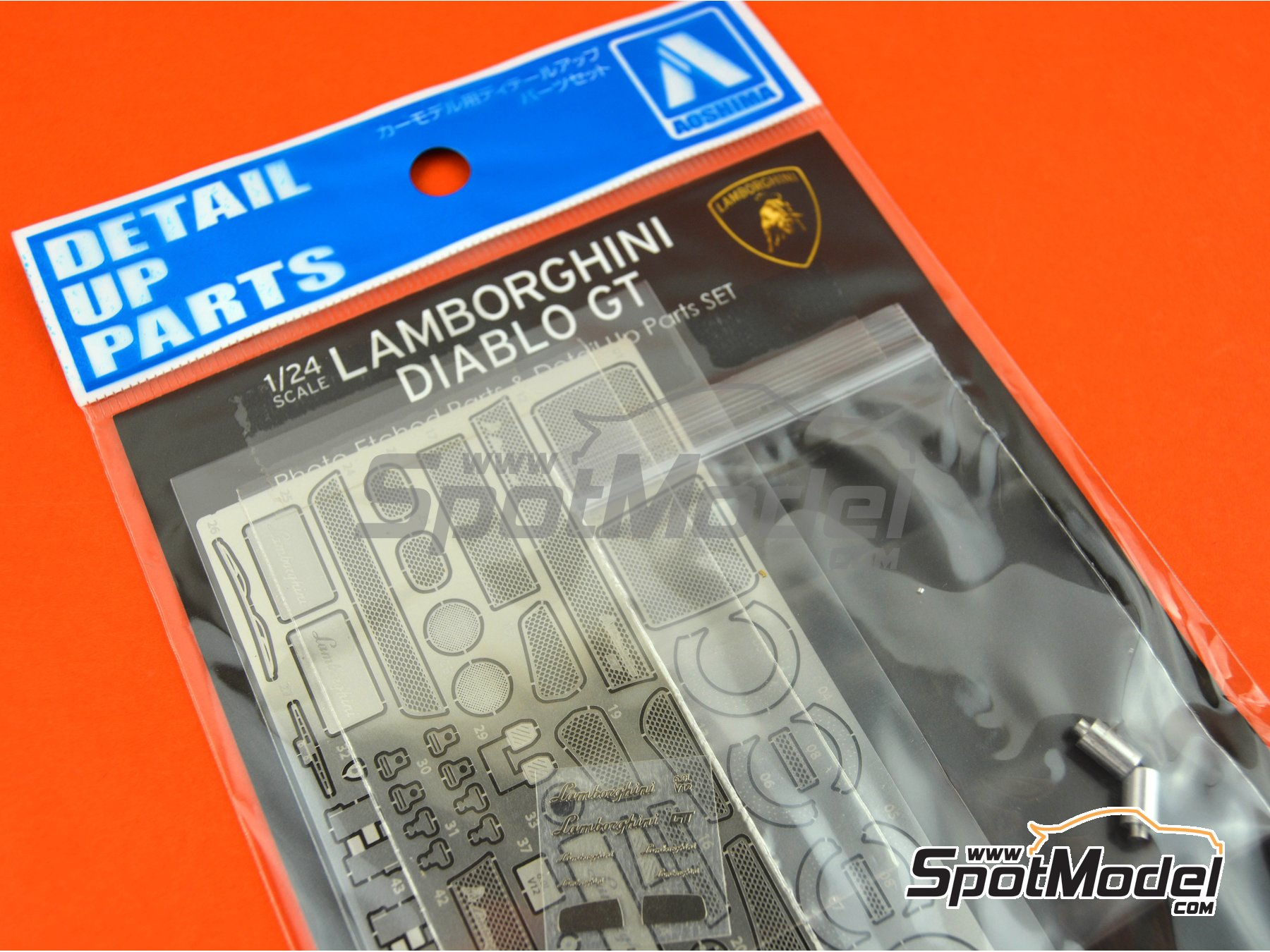Image 3: Lamborghini Diablo GT | Detail up set in 1/24 scale manufactured by Aoshima (ref. 01053)
