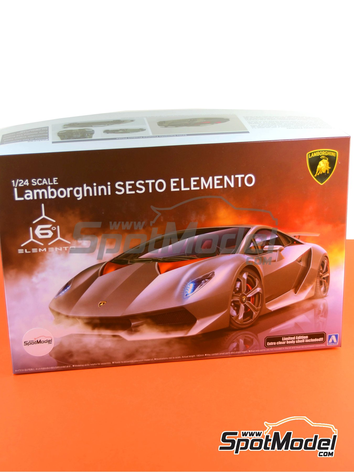 Lamborghini Sesto Elemento | Model car kit in 1/24 scale manufactured by Aoshima (ref.01073, also 010730 and 1073) image