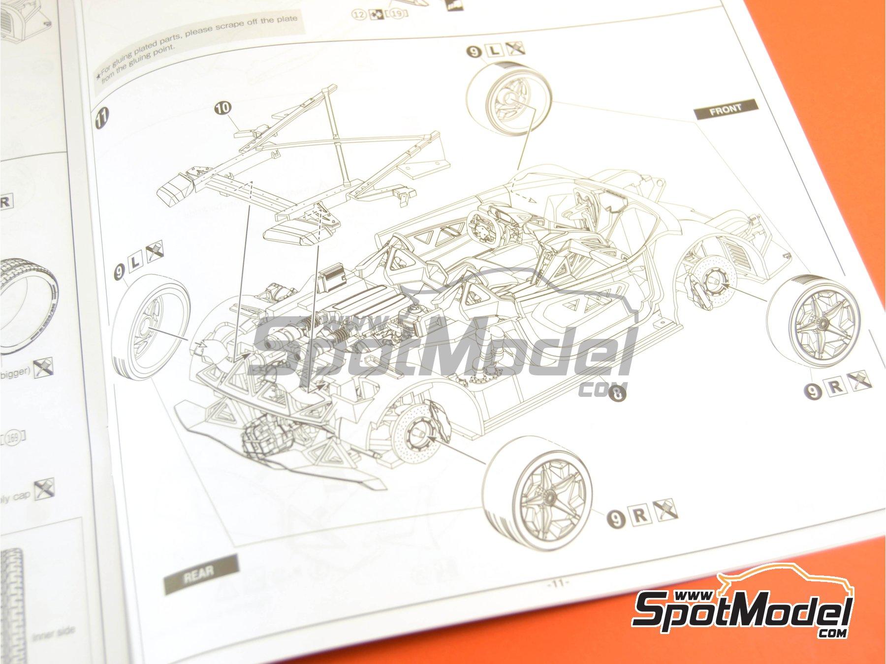 Image 34: Lamborghini Sesto Elemento | Model car kit in 1/24 scale manufactured by Aoshima (ref.01073, also 010730 and 1073)