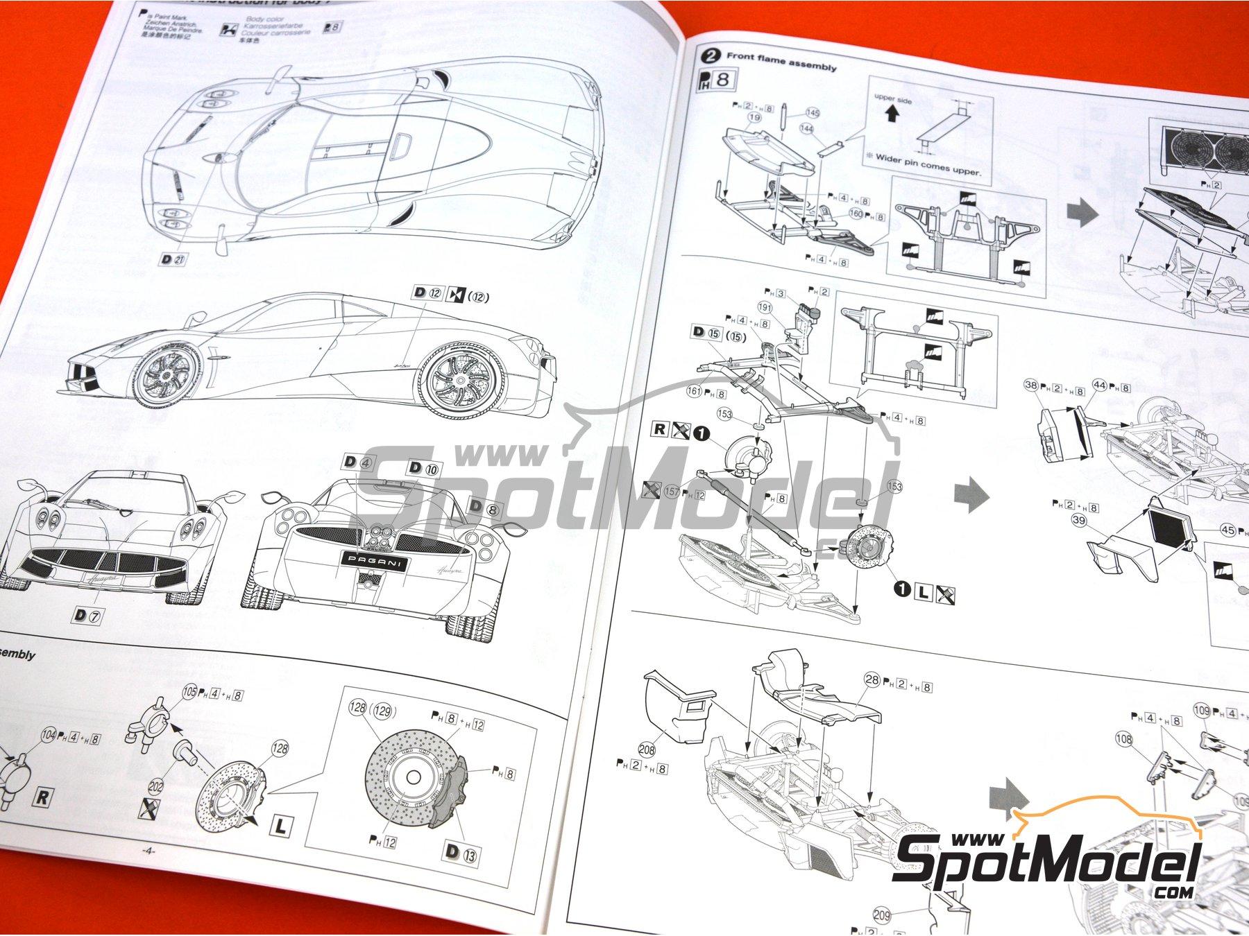 Image 21: Pagani Huayra | Maqueta de coche en escala1/24 fabricado por Aoshima (ref.01091)