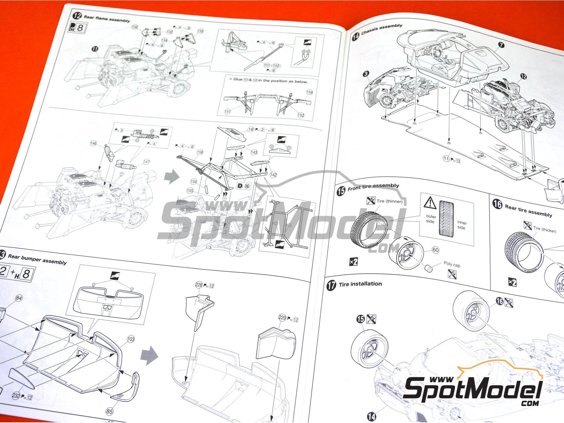 Image 22: Pagani Huayra | Maqueta de coche en escala1/24 fabricado por Aoshima (ref.01091)