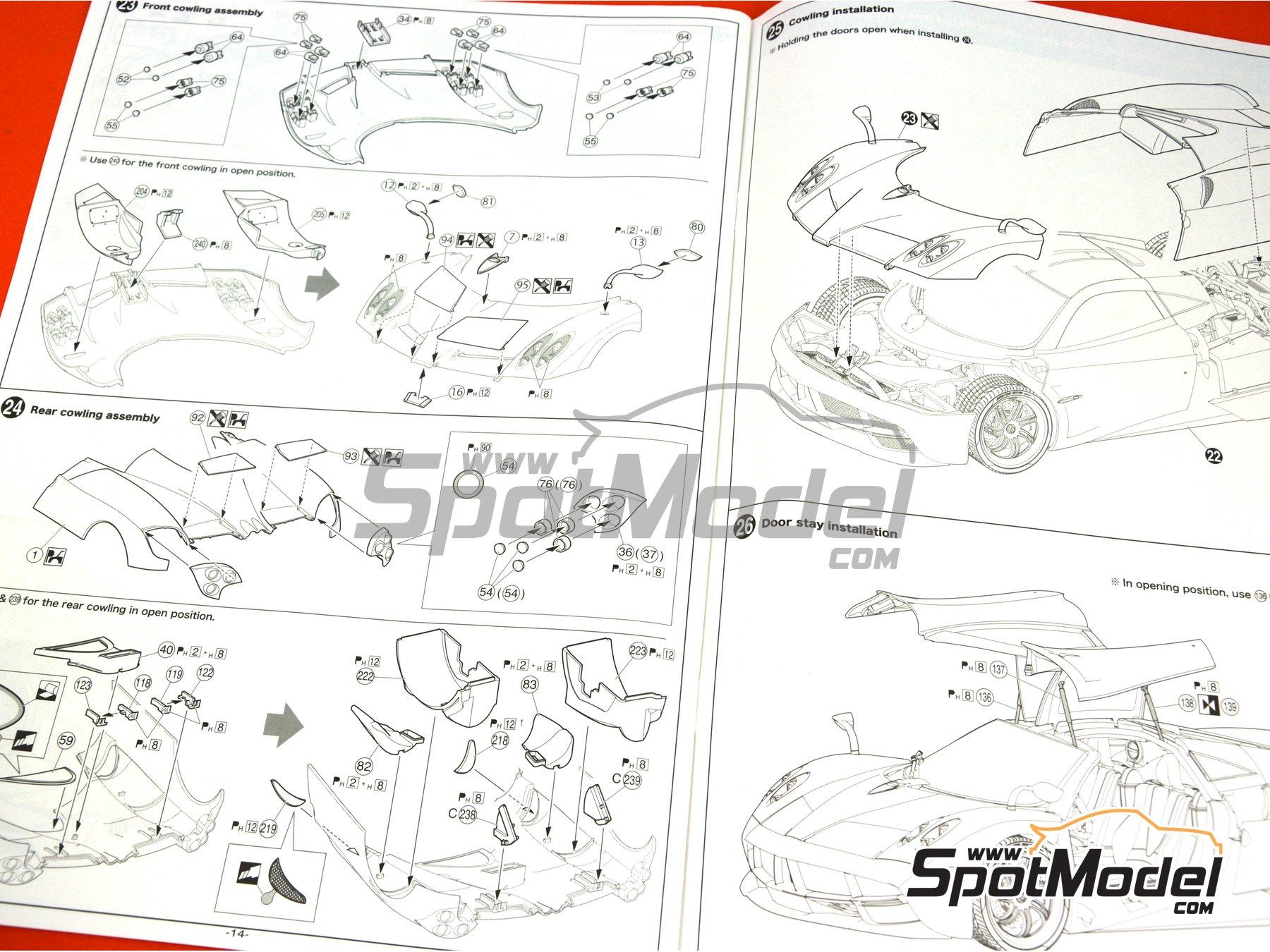 Image 23: Pagani Huayra | Maqueta de coche en escala1/24 fabricado por Aoshima (ref.01091)