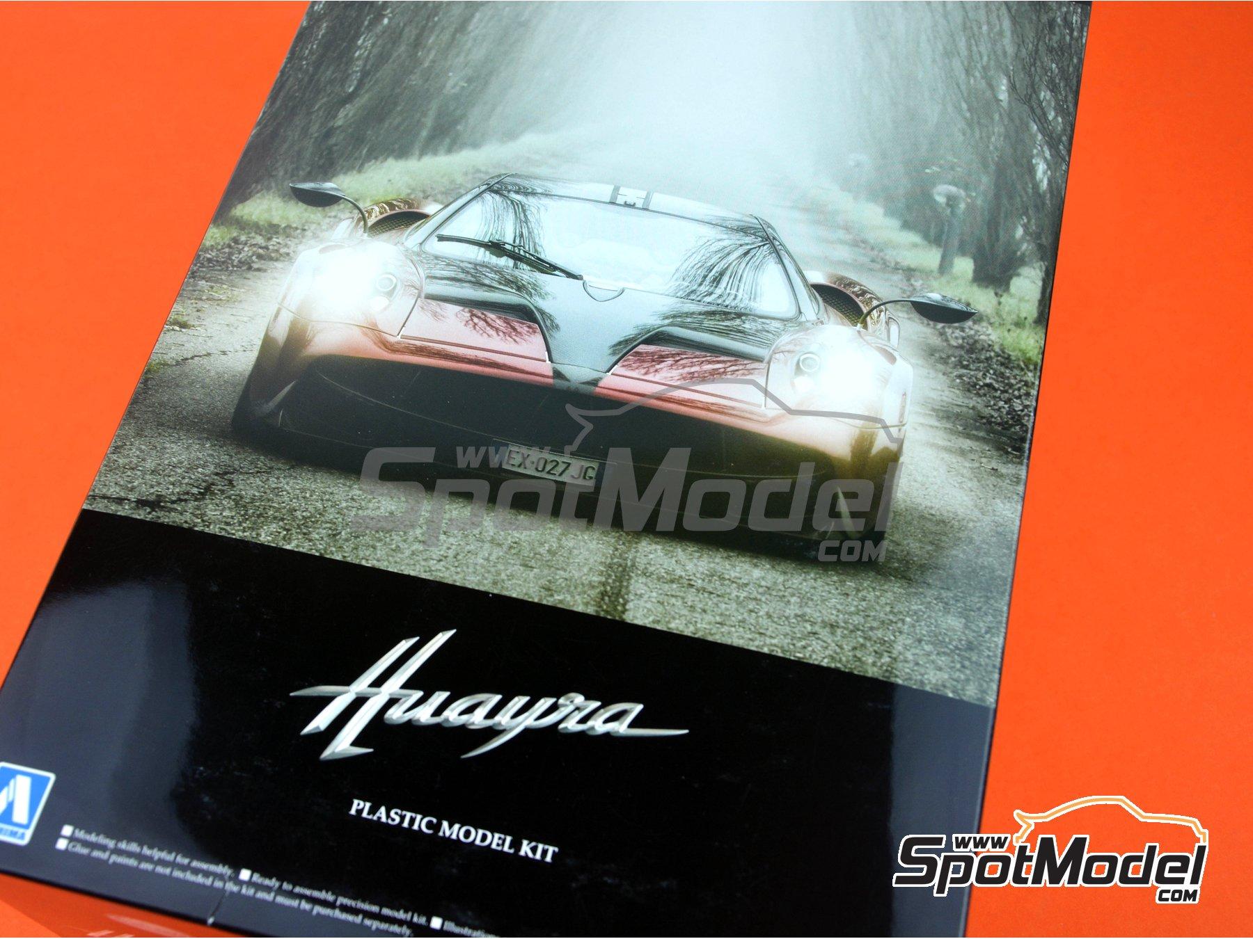 Image 24: Pagani Huayra | Maqueta de coche en escala1/24 fabricado por Aoshima (ref.01091)