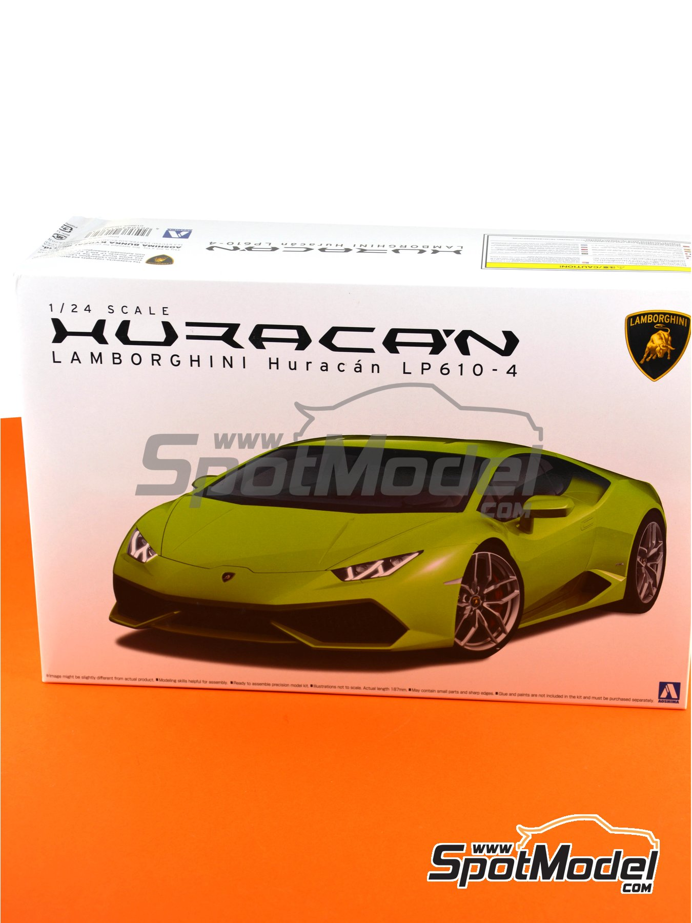 Lamborghini Huracan LP610-4 | Model car kit in 1/24 scale manufactured by Aoshima (ref. 01382) image