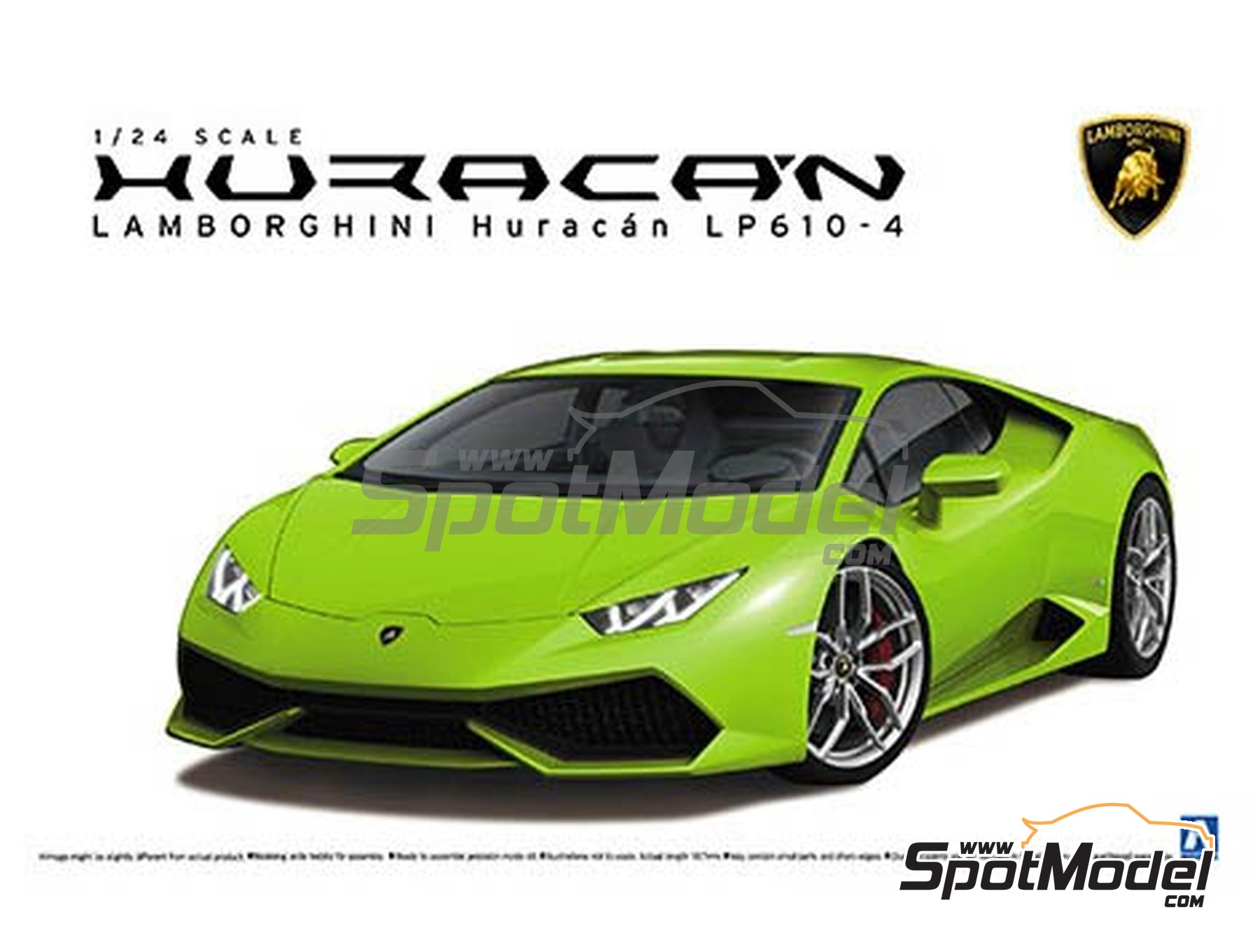 Image 1: Lamborghini Huracan LP610-4 | Model car kit in 1/24 scale manufactured by Aoshima (ref. 01382)