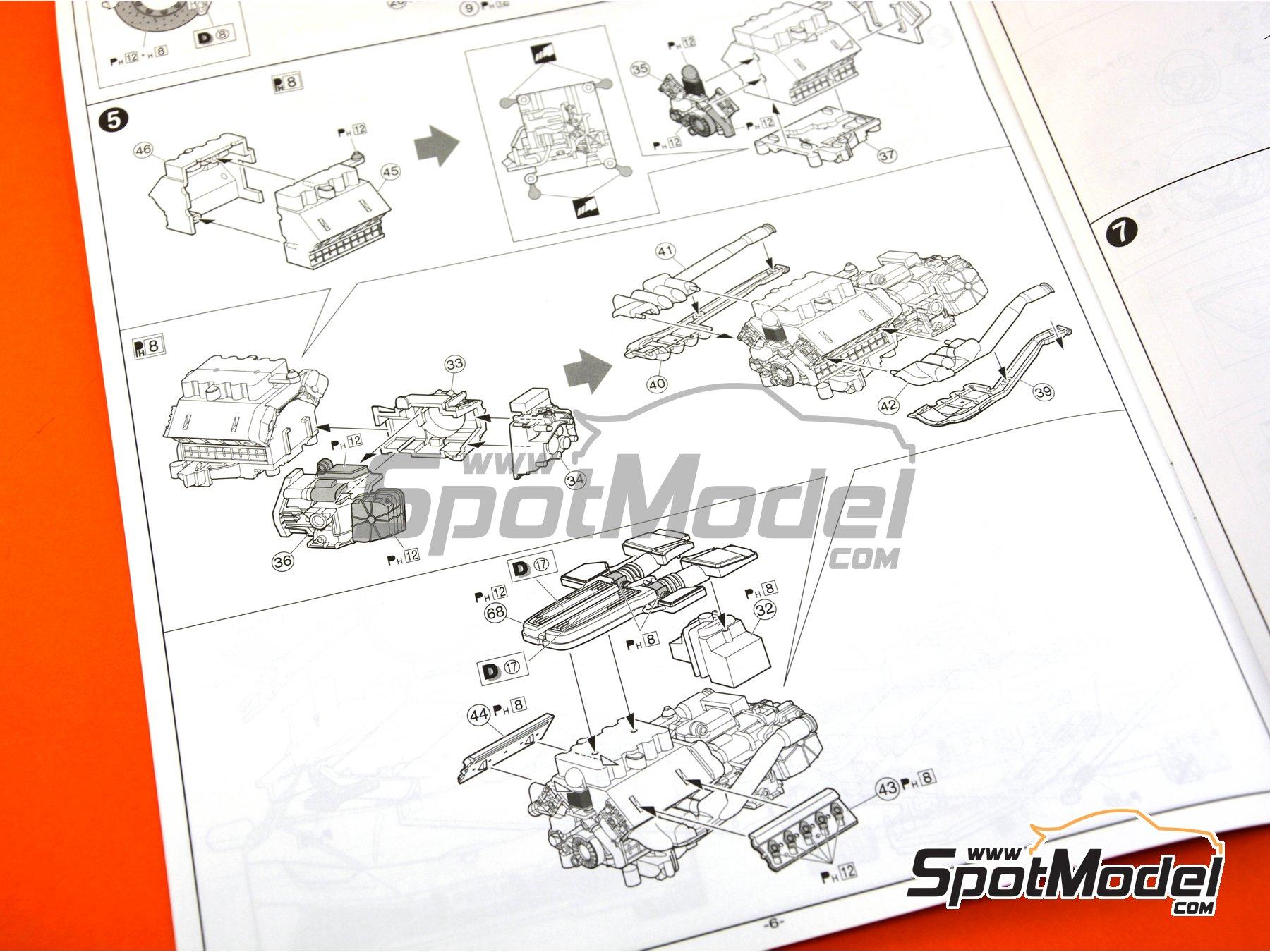 Image 25: Lamborghini Huracan LP610-4 | Model car kit in 1/24 scale manufactured by Aoshima (ref.01382)